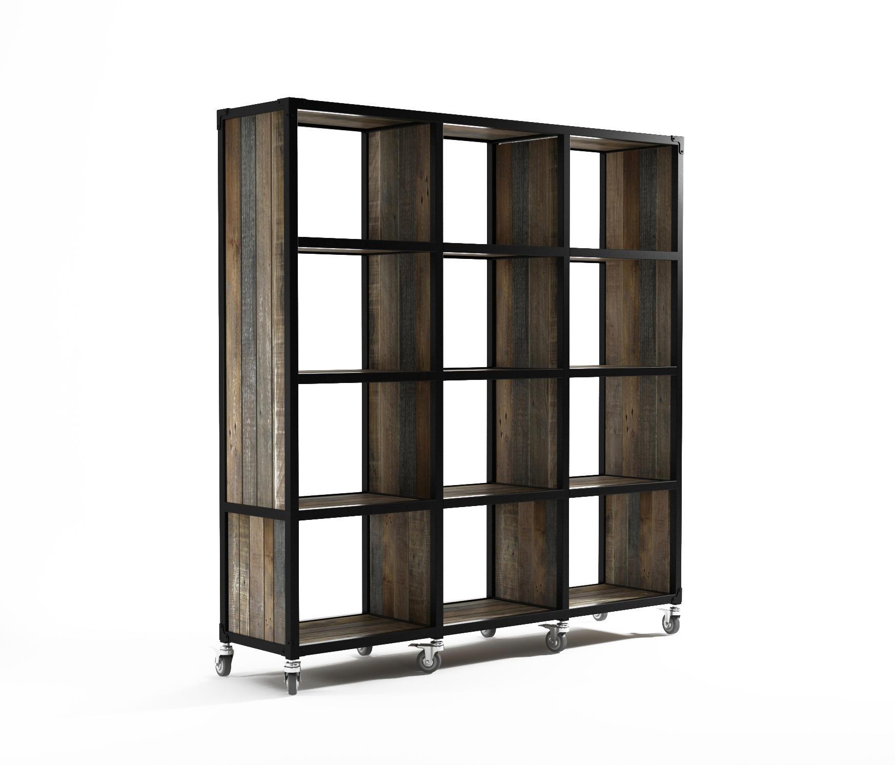 Atelier vertical rack 12 compartments estanter a de for Estanteria vertical