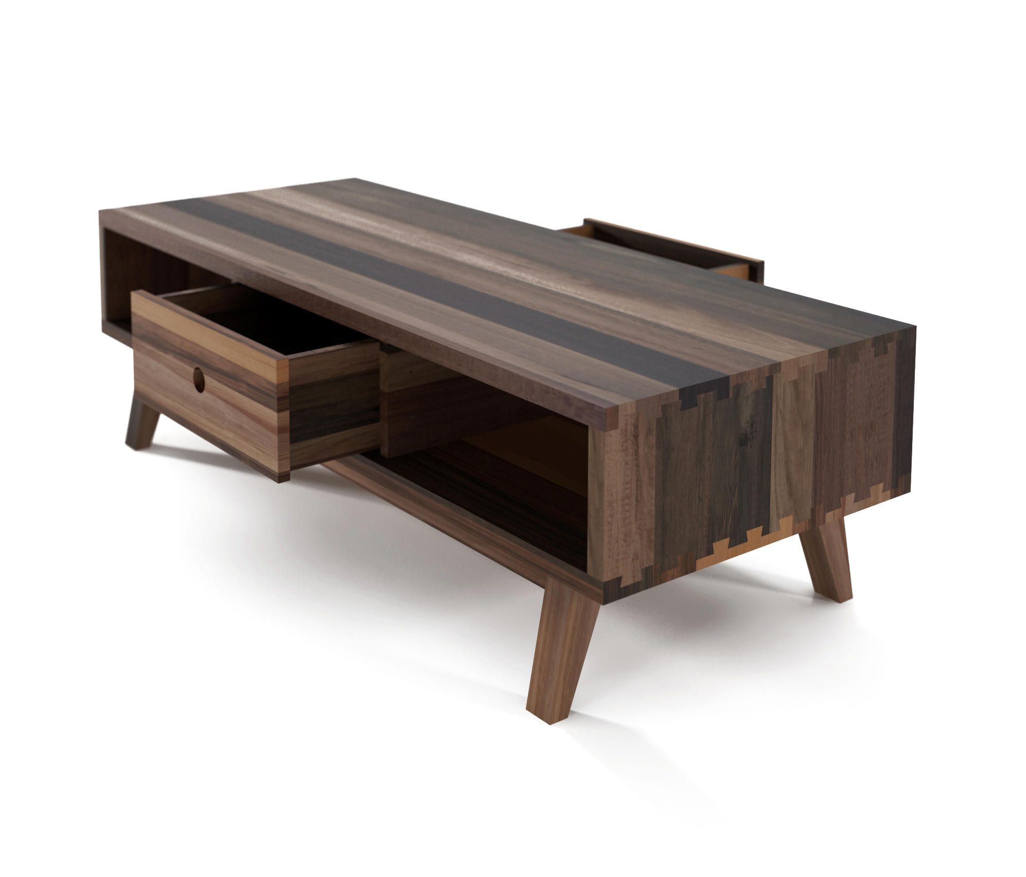 Map Drawer Coffee Table: BROOKLYN COFFEE TABLE 2 DRAWERS 2 NICHES