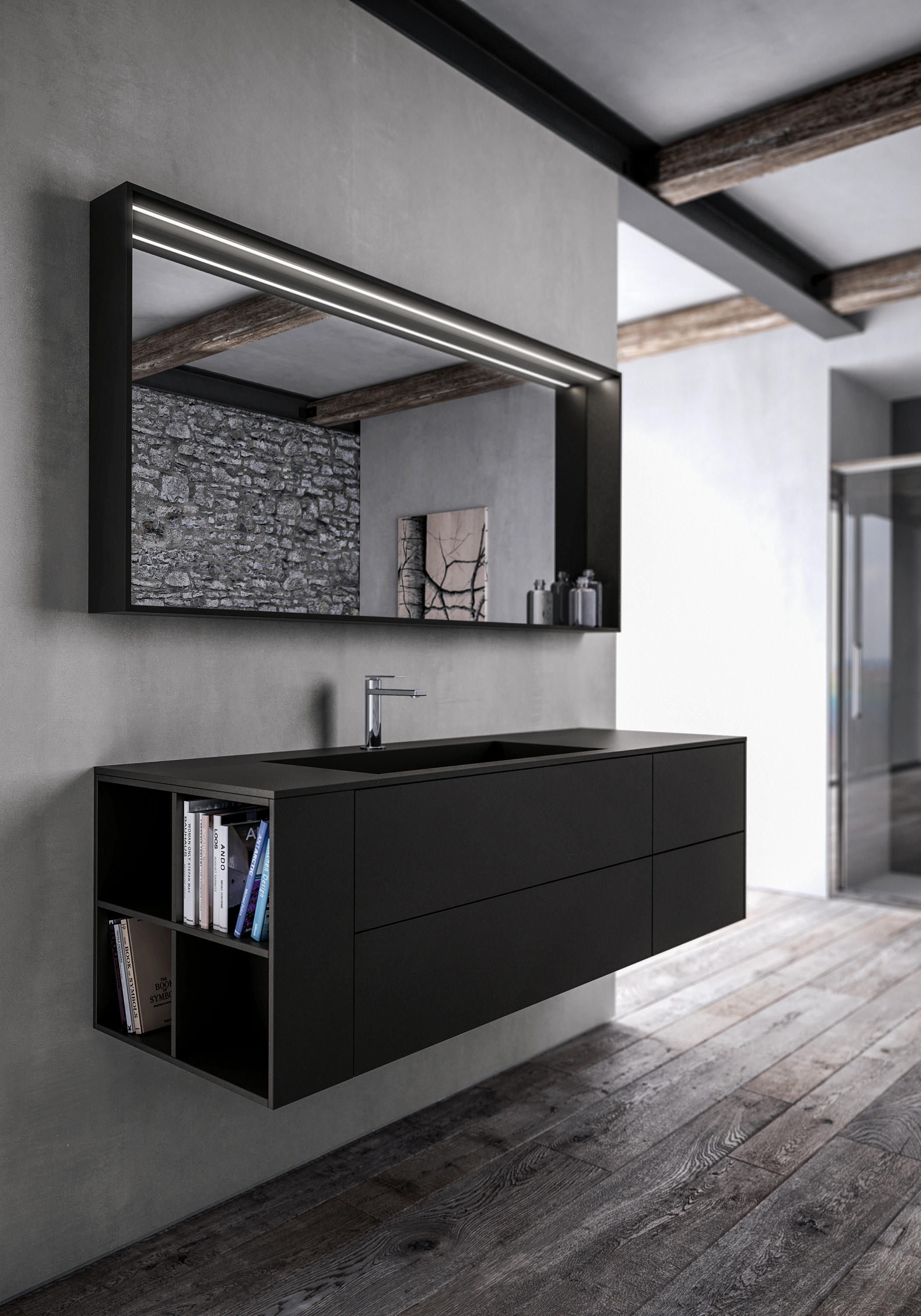 Sense wall mirrors from idea group architonic for Leroy merlin specchi