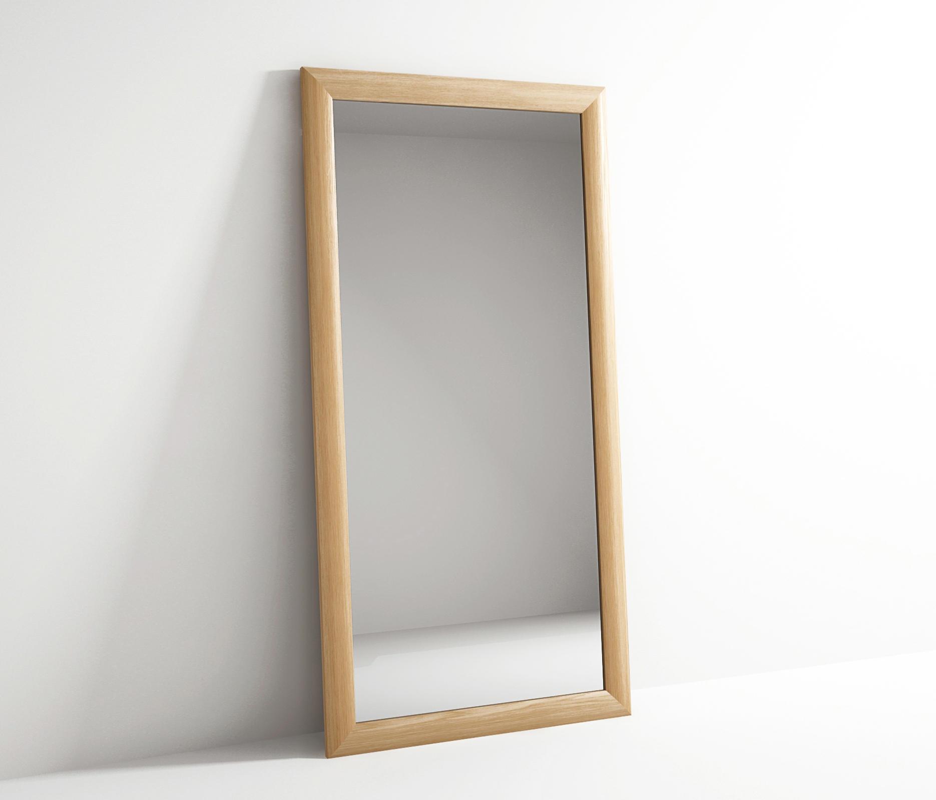 Vintage rectangular standing mirror espejos de karpenter for Mirror 90 x 90