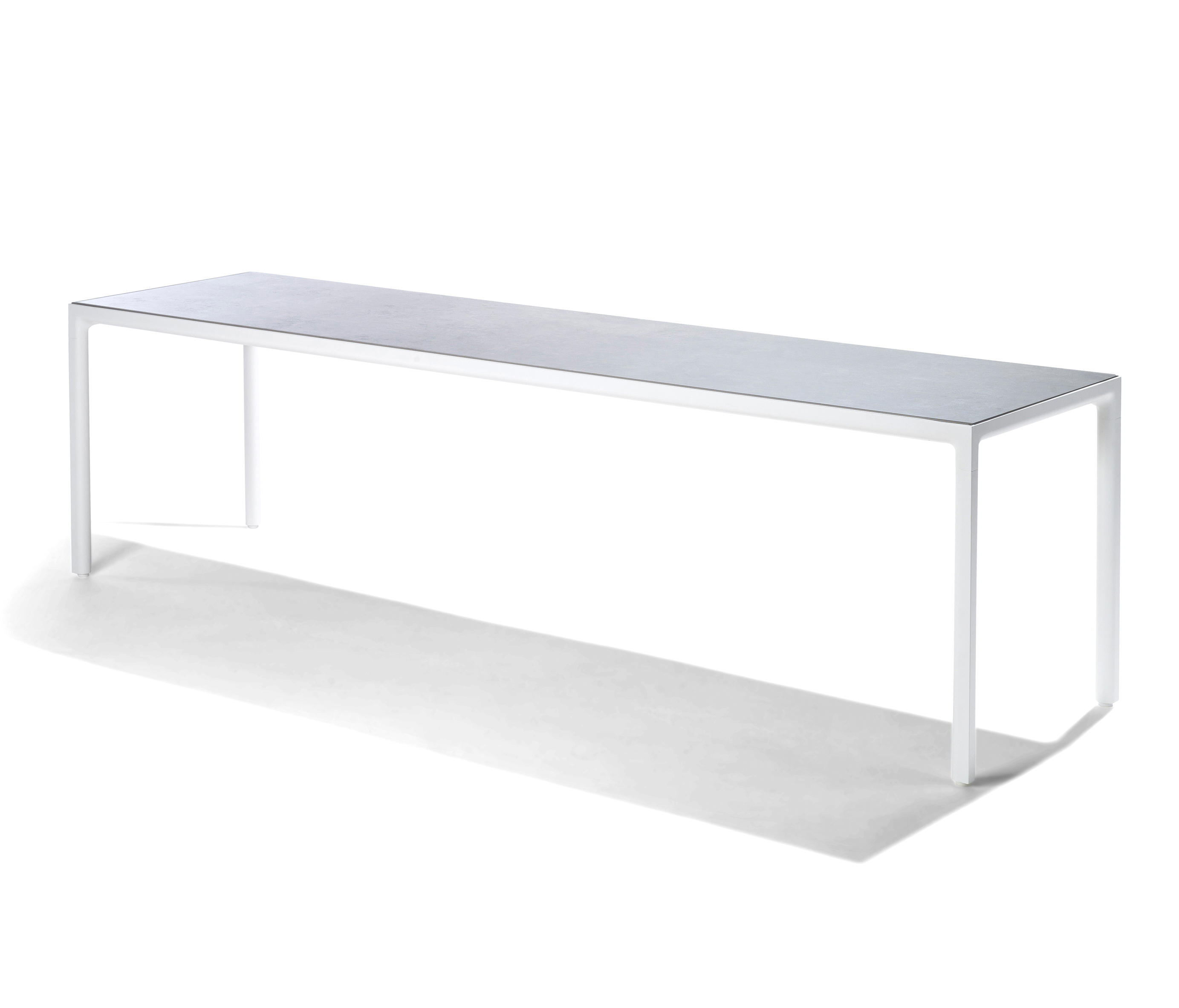 Illum slim dining table dining tables from trib for Slim dining table