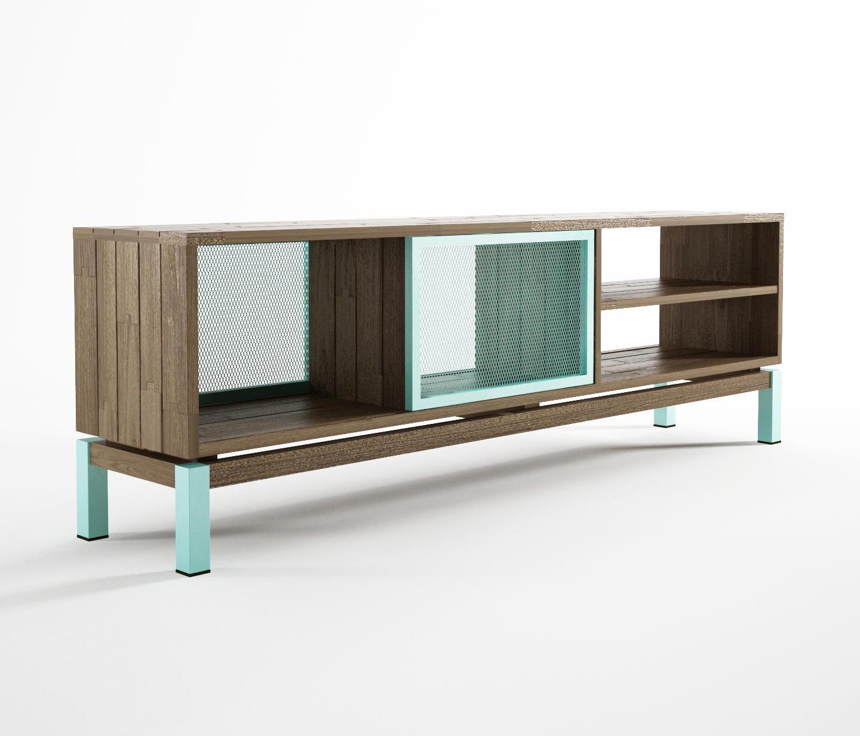 color bebop tv chest 2 doors 4 compartments multimedia. Black Bedroom Furniture Sets. Home Design Ideas