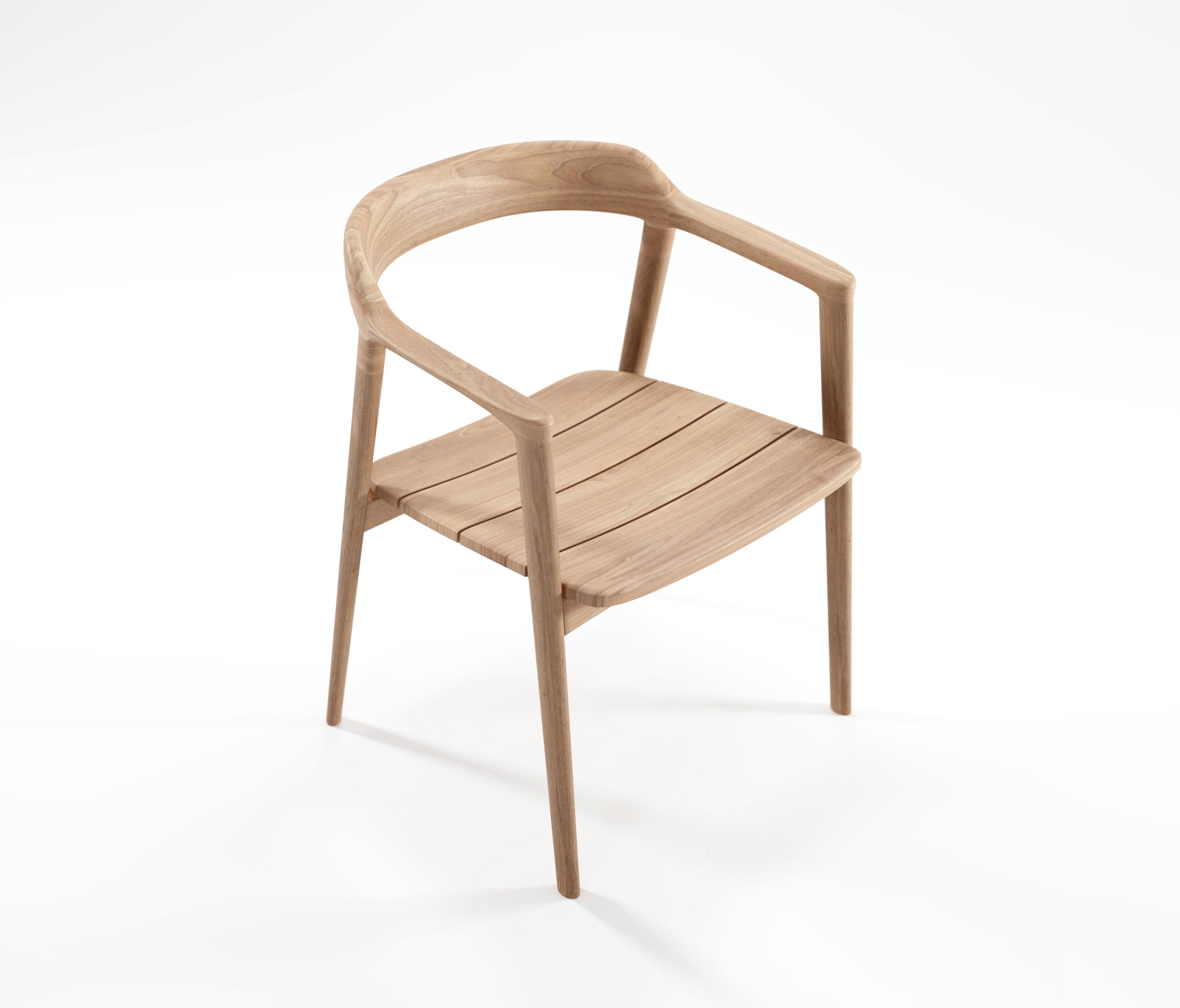 Wooden armchair with cushion - Grasshopper Arm Chair Without Cushion By Karpenter Chairs