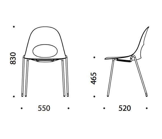 say o basic metal chairs from say o architonic