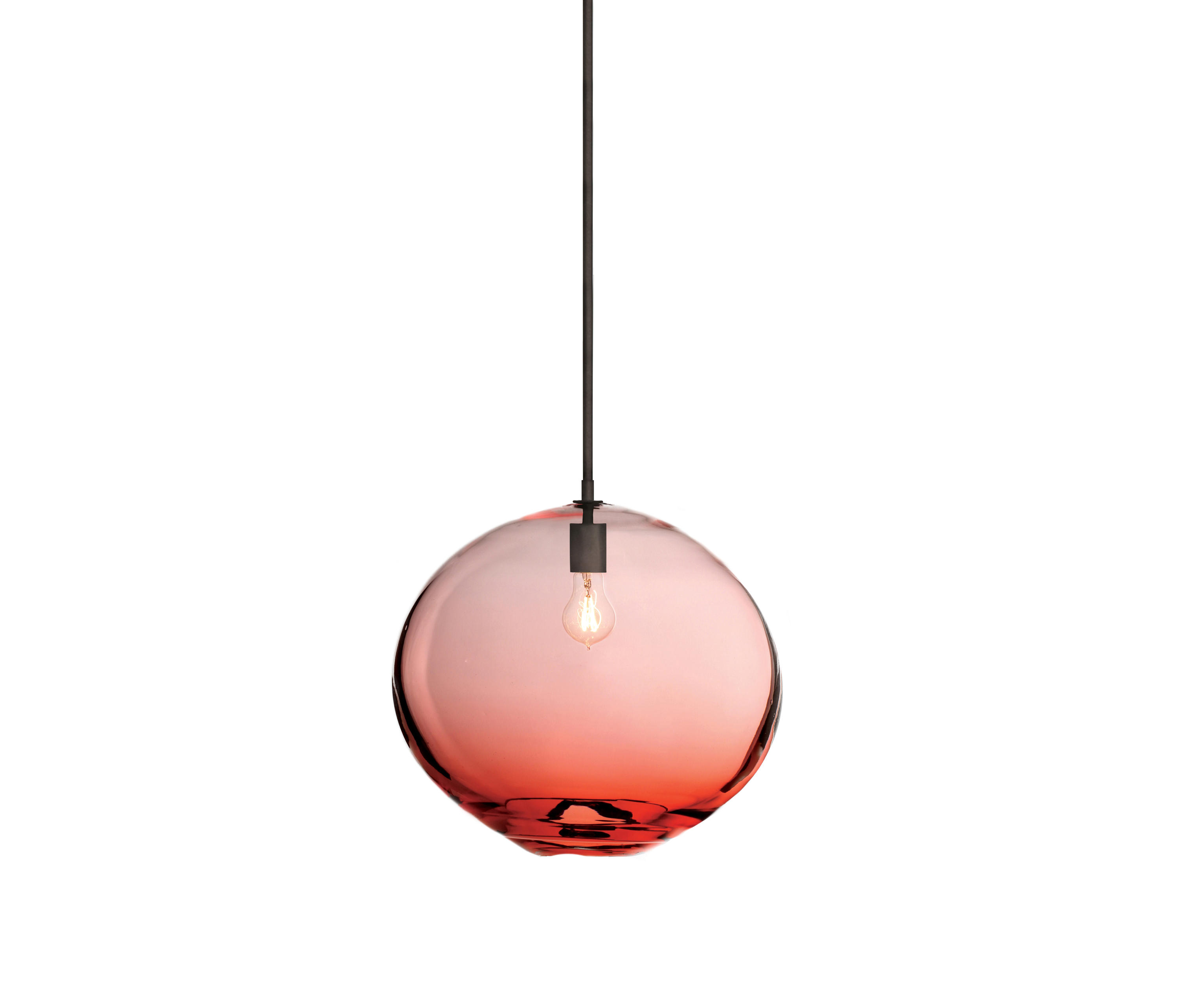 Trace Light Suspended Lights From Sklo: FLOAT PENDANT LIGHT DARK OXIDIZED RED