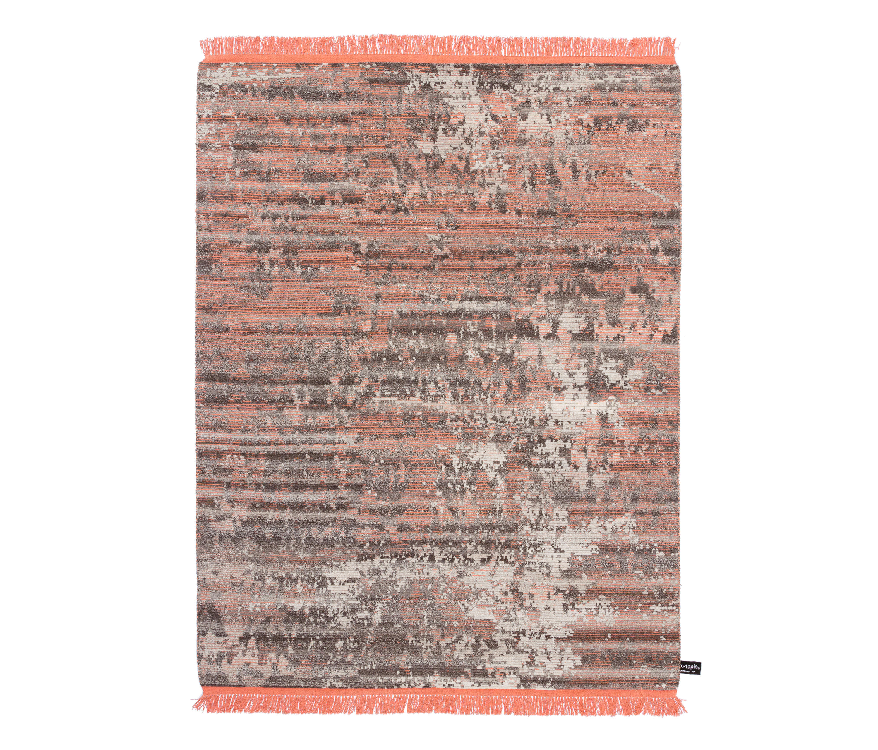 rugs rust rugtastic modern orange hannah products har rug