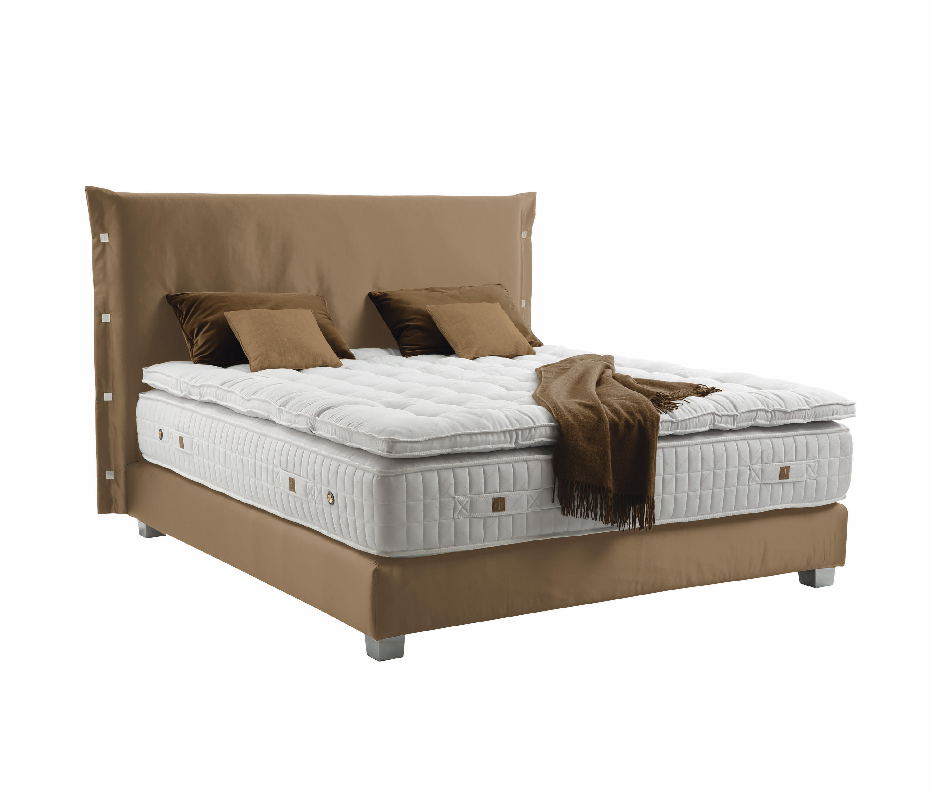 Double bed furniture design - Sleeping Systems Collection Prestige Headboard Trench Double Beds Treca Interiors Paris