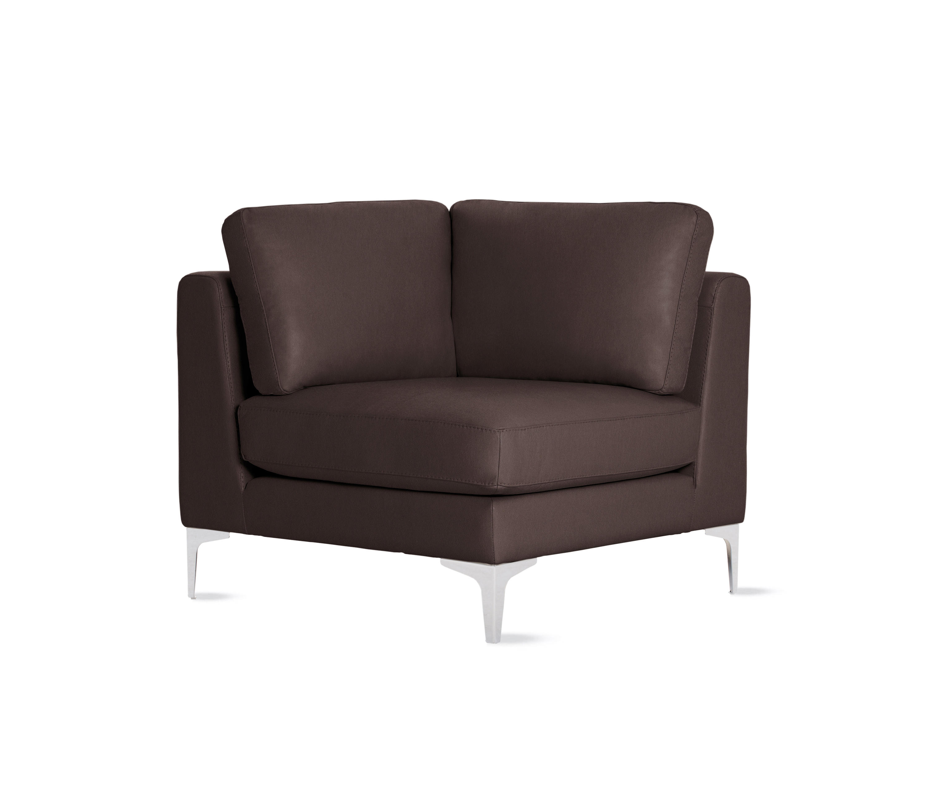 Chairs design within reach - Albert Corner In Leather By Design Within Reach Modular Seating Elements