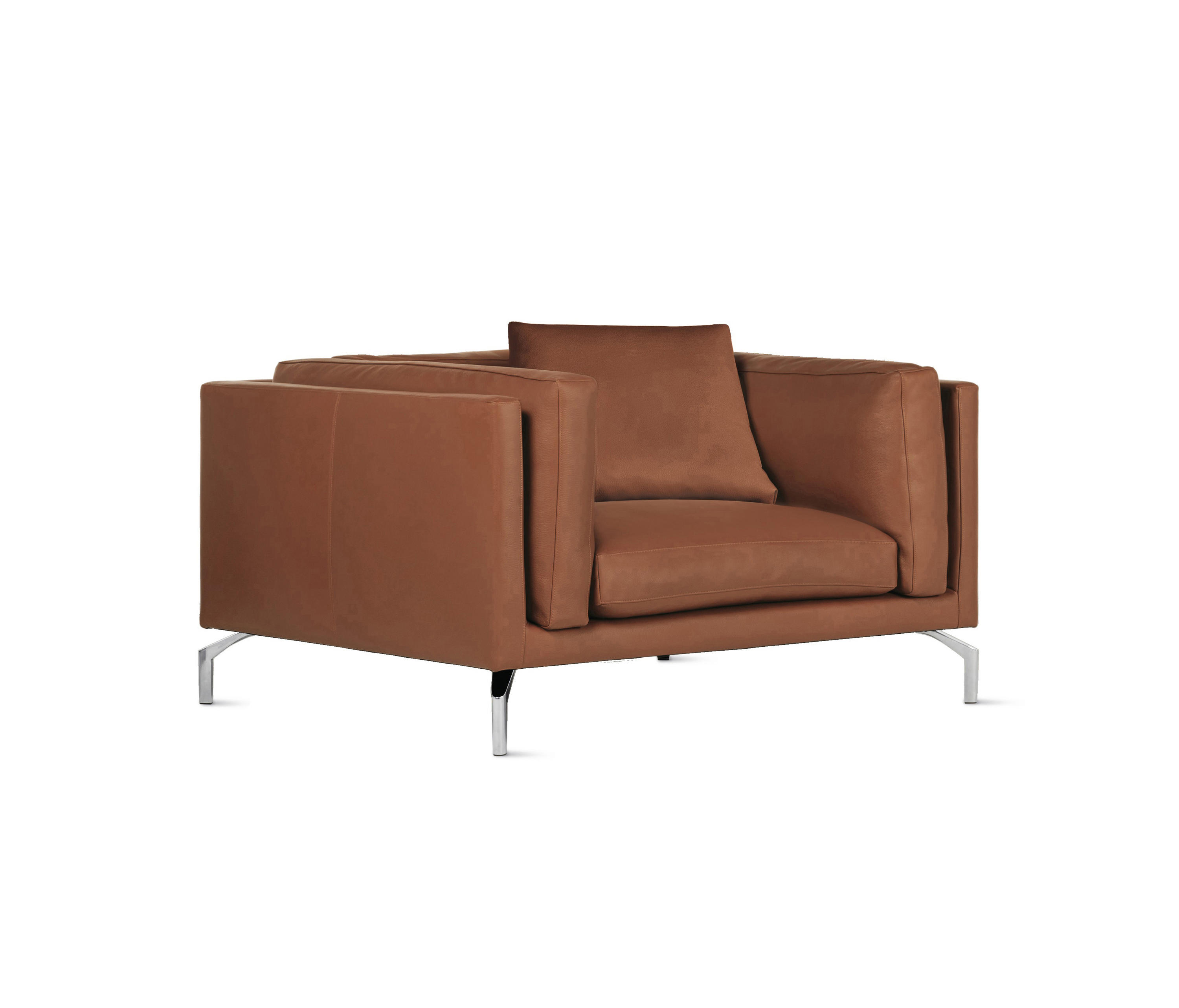 Chairs design within reach -  Como Armchair In Leather By Design Within Reach Armchairs