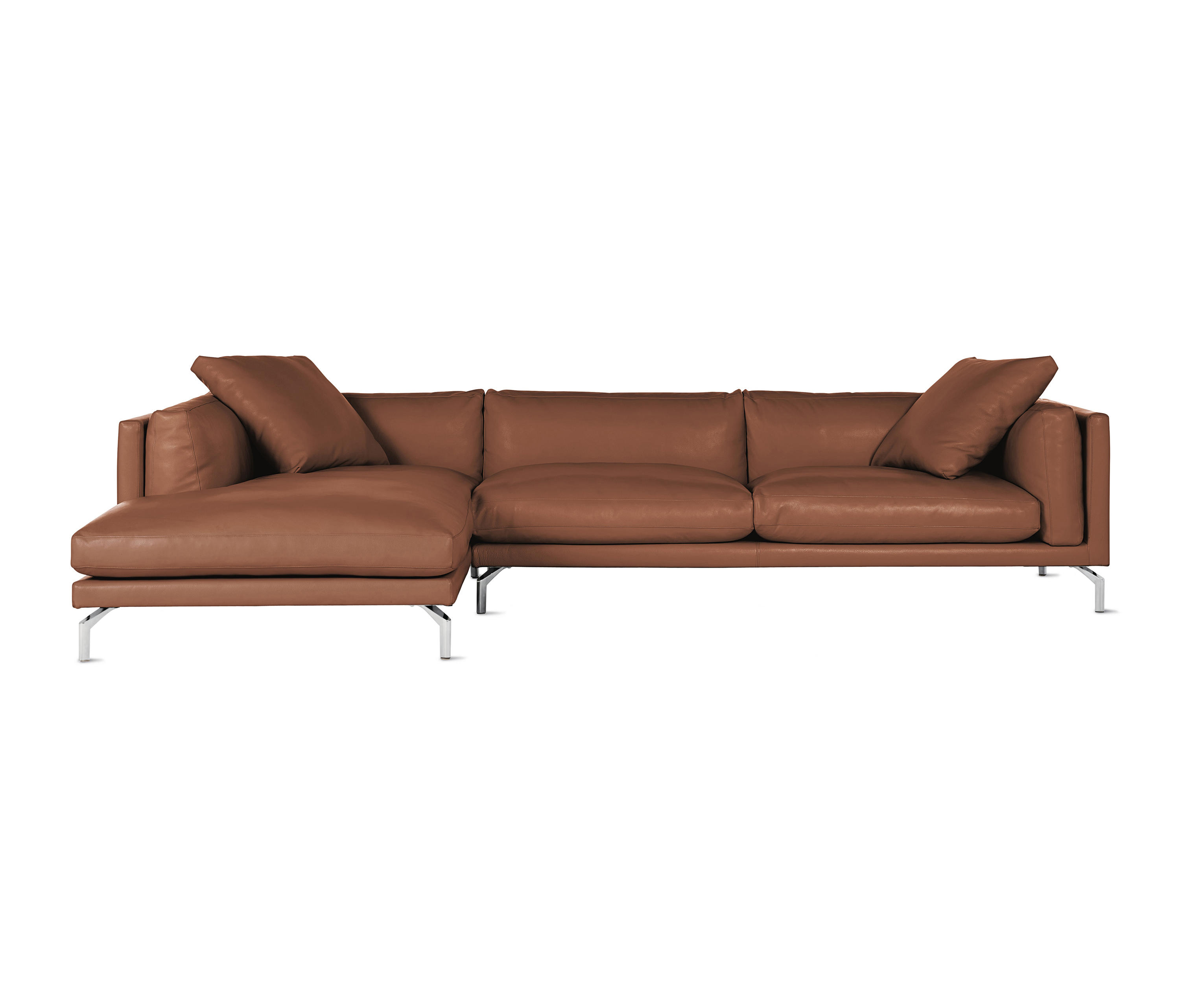 Giorgio Leather Reclining Sofa: COMO SECTIONAL CHAISE IN LEATHER, LEFT