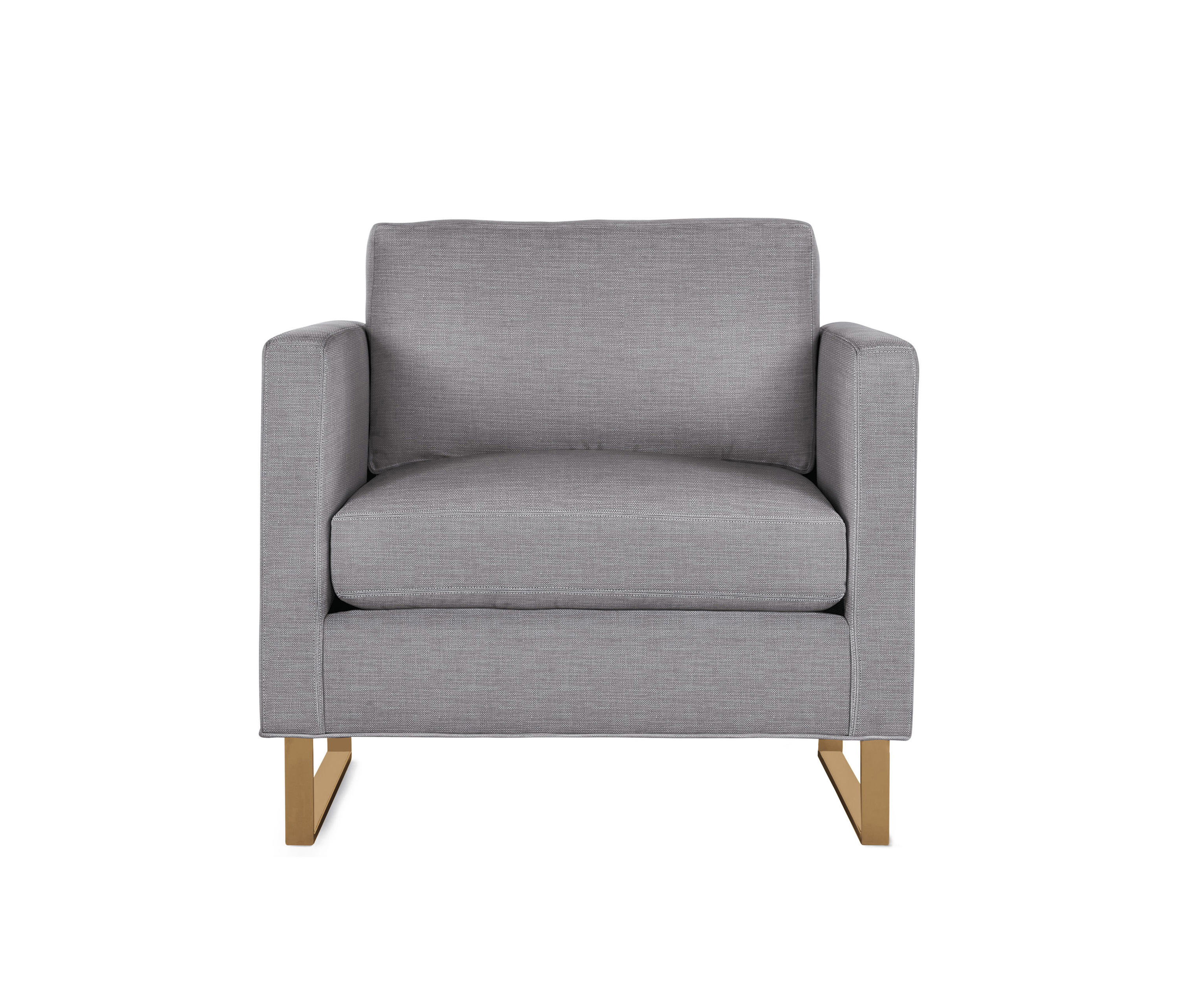 Goodland Armchair In Fabric Bronze Legs Armchairs From Design