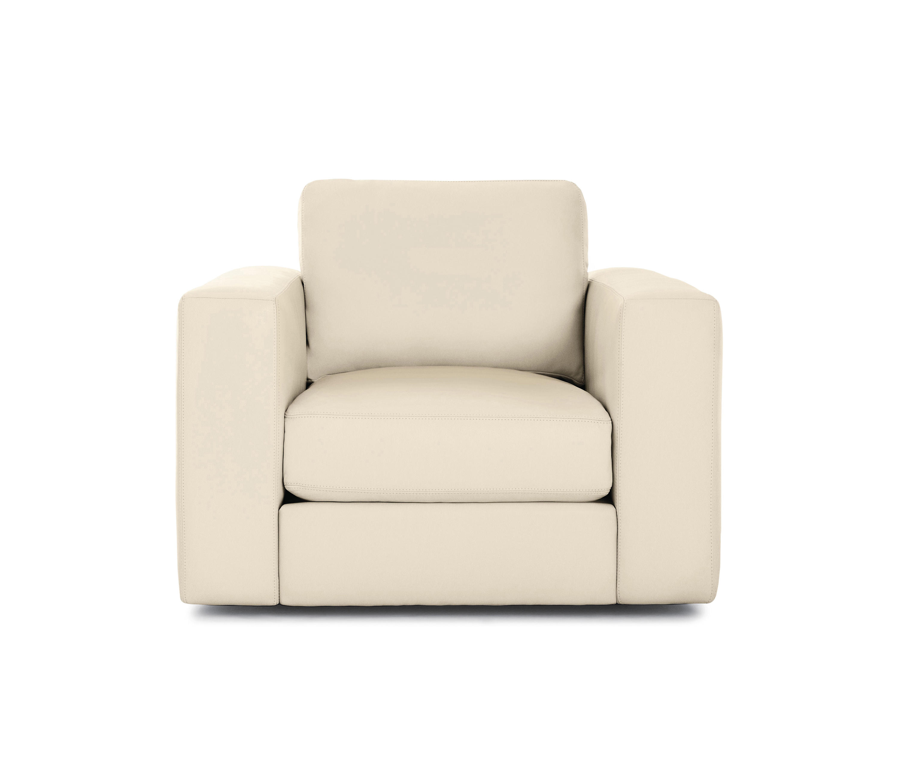 REID SWIVEL ARMCHAIR IN LEATHER - Armchairs from Design ...