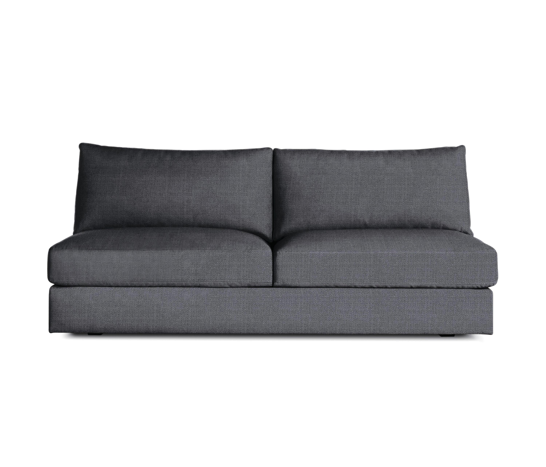 Reid Armless Sofa In Fabric Sofas Von Design Within