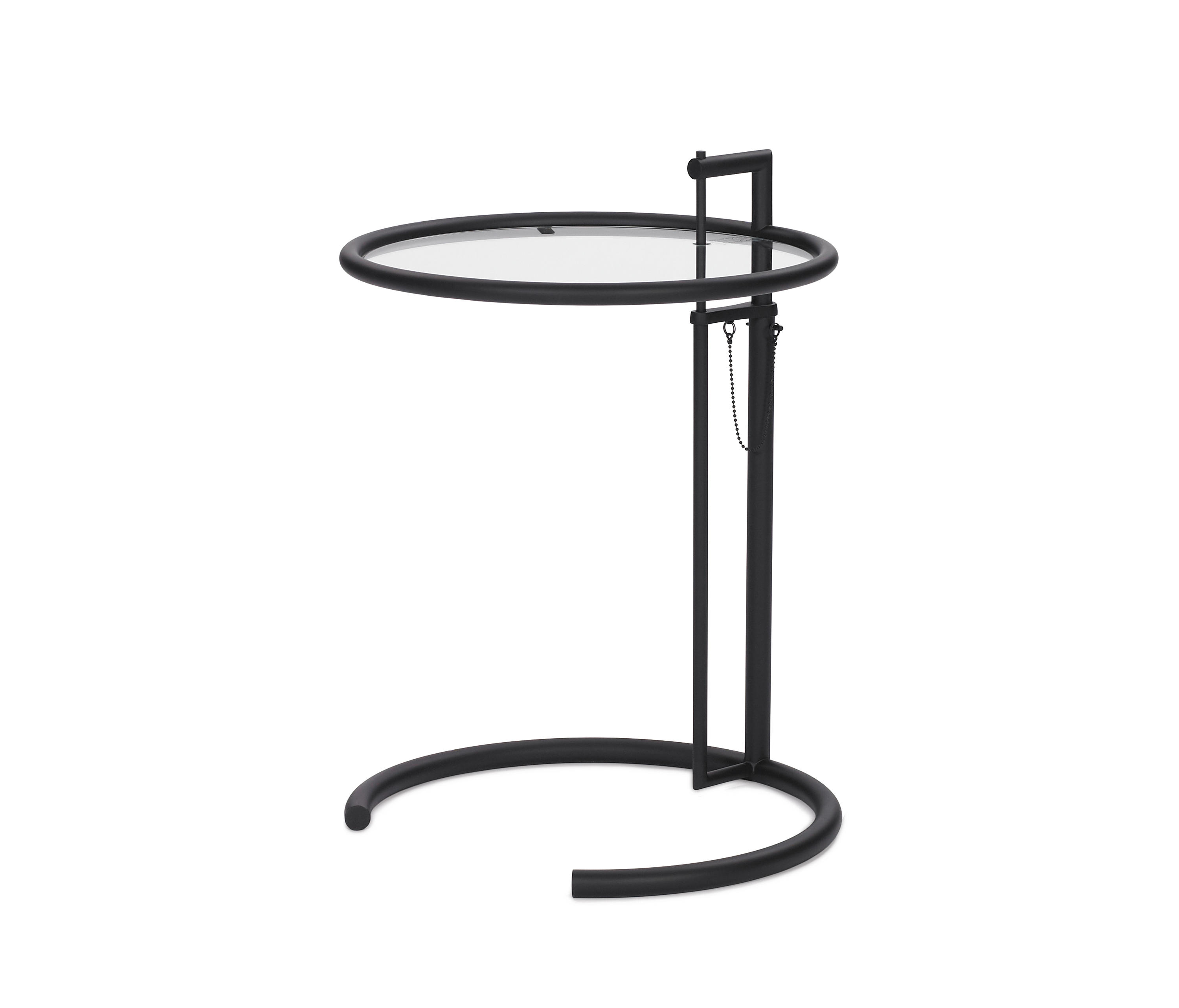 adjustable table e 1027 black night stands from classicon architonic. Black Bedroom Furniture Sets. Home Design Ideas