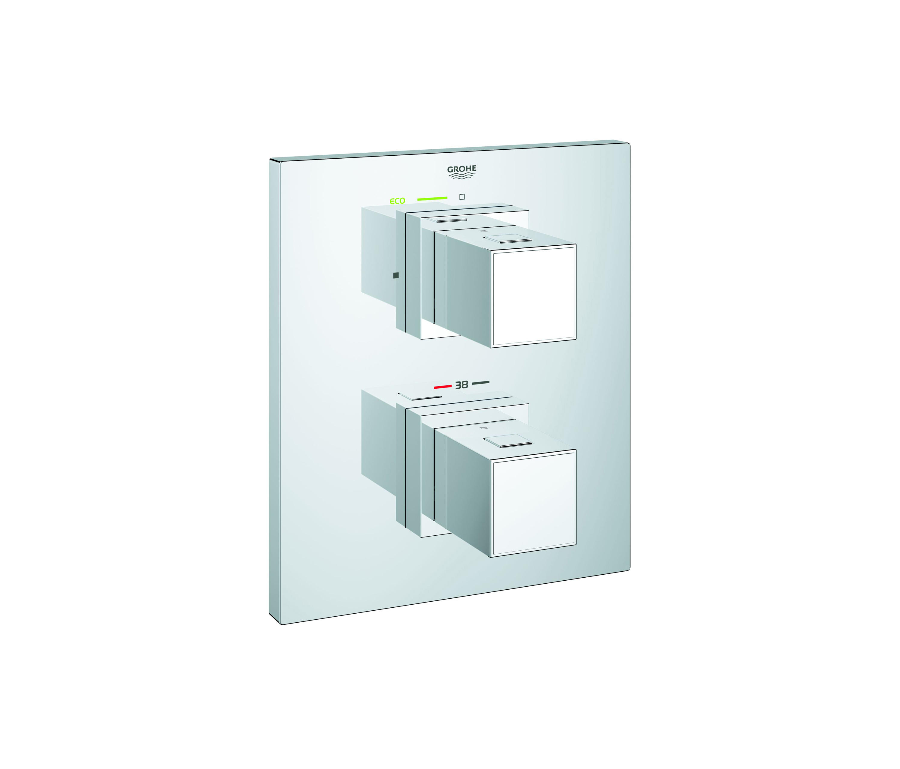 GROHTHERM CUBE THERMOSTATIC SHOWER MIXER - Shower controls from ...