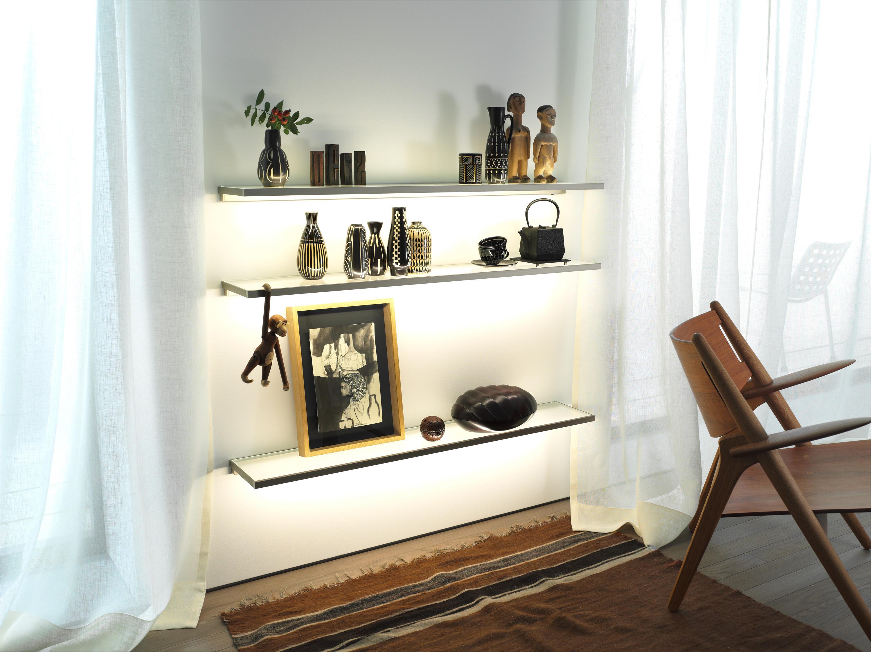 Glass Shelf Gera Light System 4 Shelving From Gera