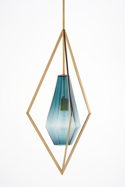 Tetra Pendant Light Blue Suspended Lights From Farrah