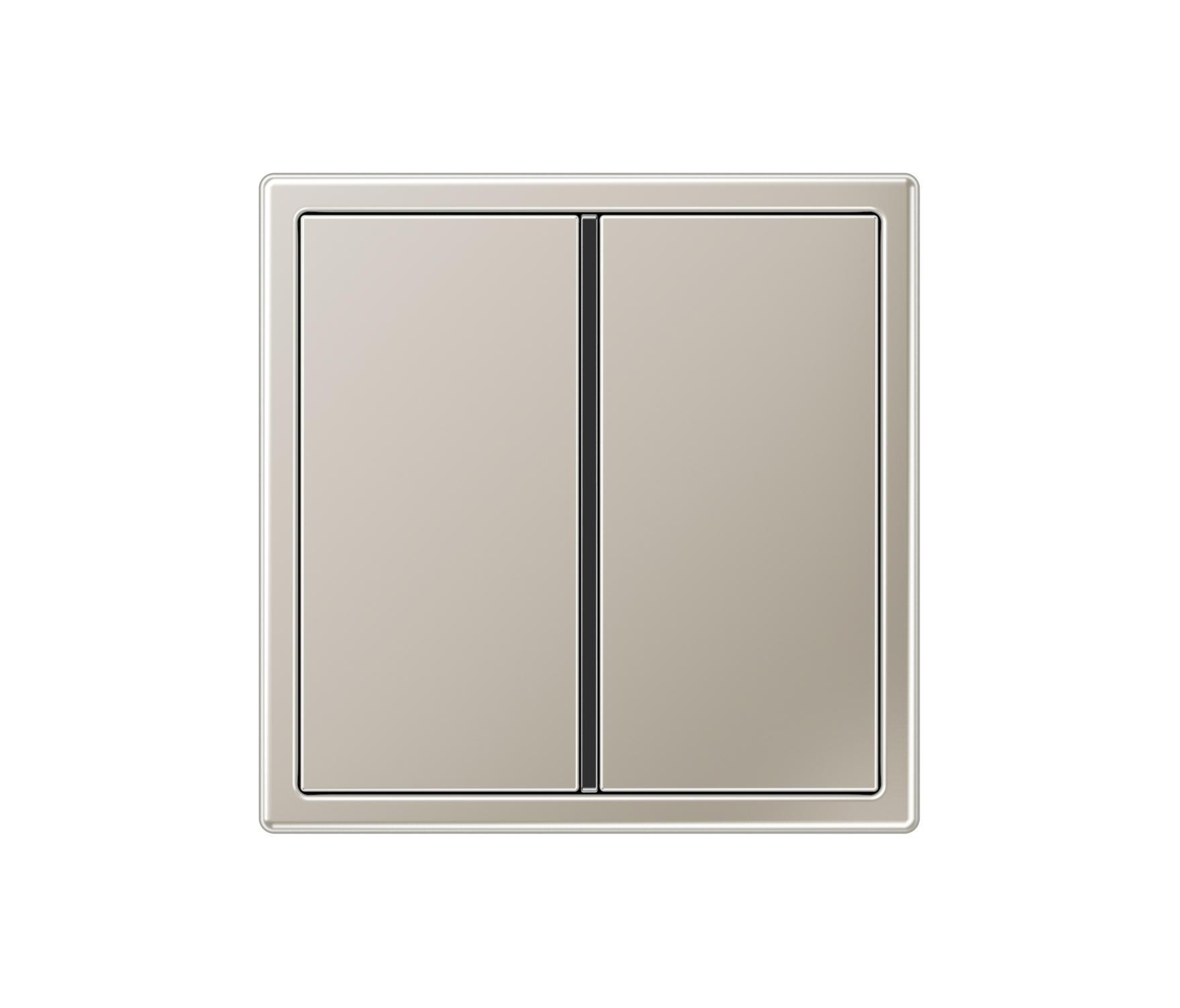 ls 990 stainless steel 2 range switch interrupteurs standard de jung architonic. Black Bedroom Furniture Sets. Home Design Ideas