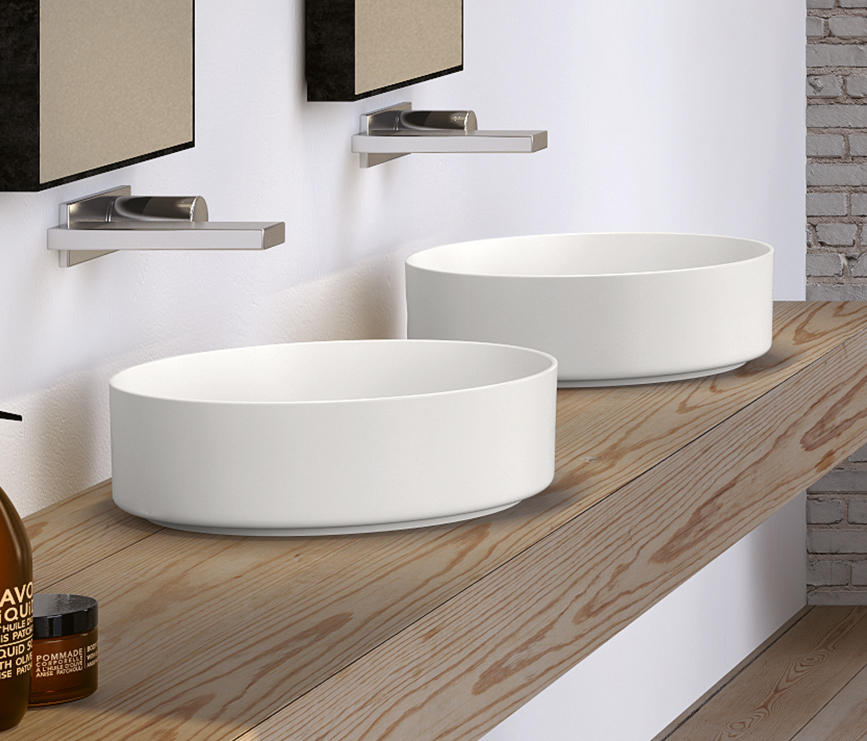 Ceramica Cielo Lavabo Shui.Shui Comfort Bacinella D Appoggio Lavabi Ceramica Cielo