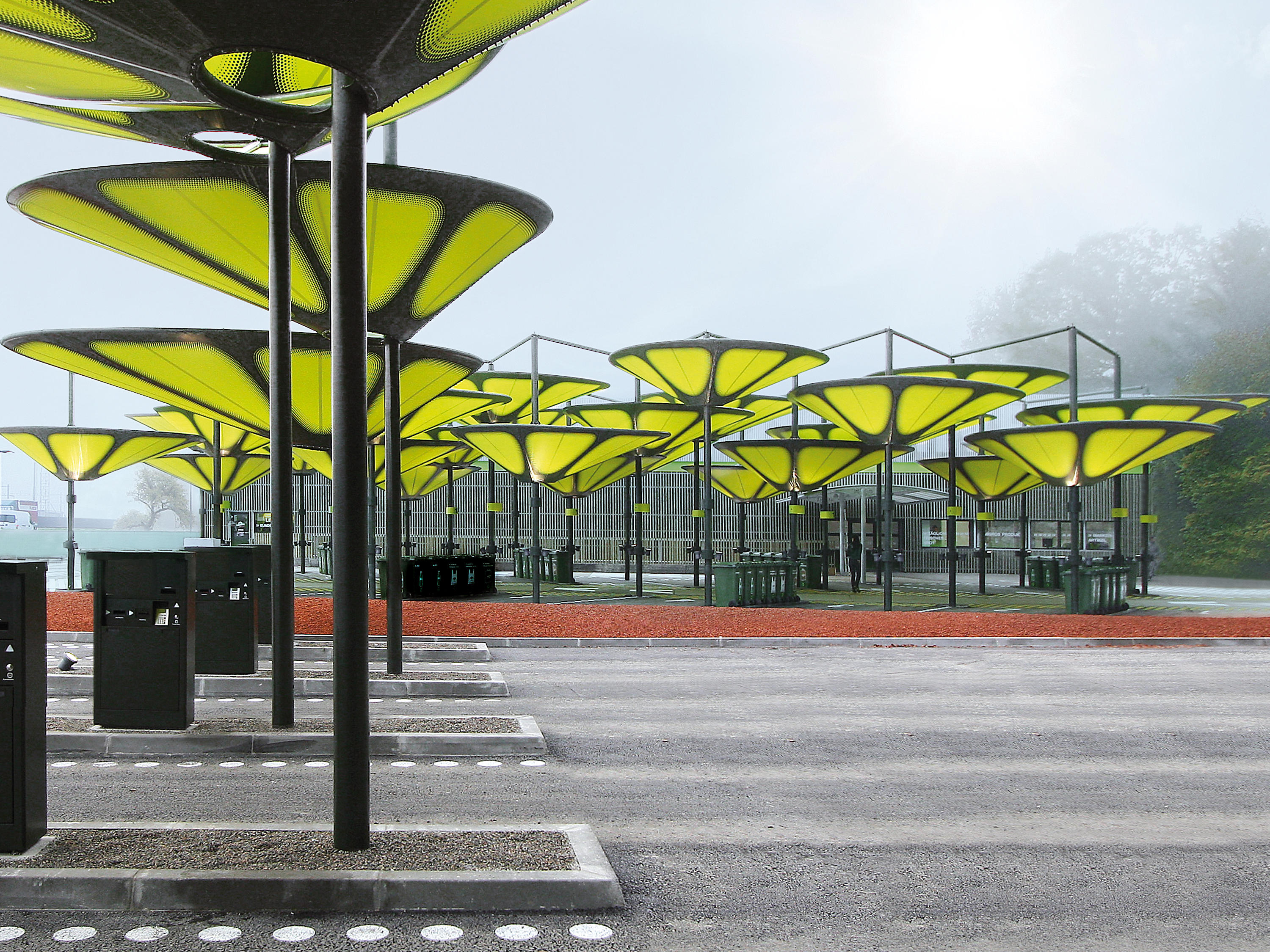 Type sh shade structures pergolas from mdt tex architonic for Shade structures