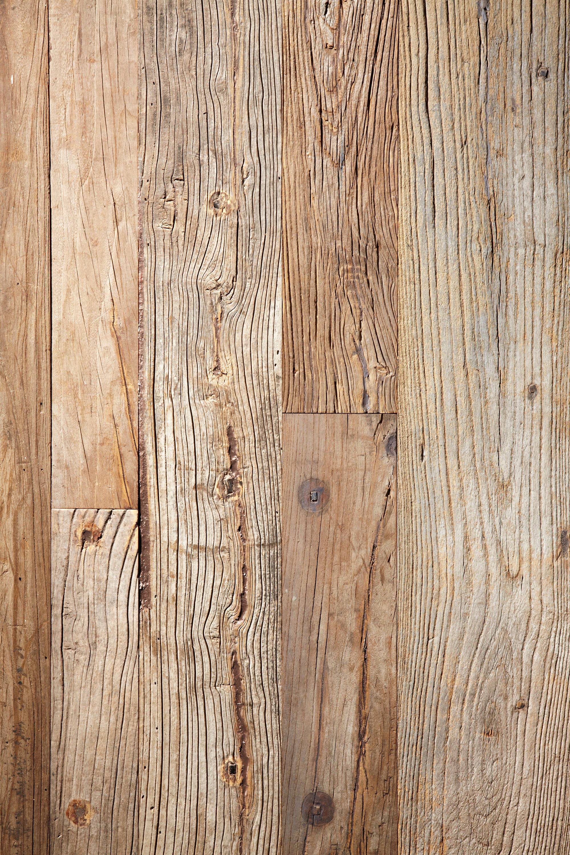 Stockholm Rough Salvage Elm Raw Wood Flooring From