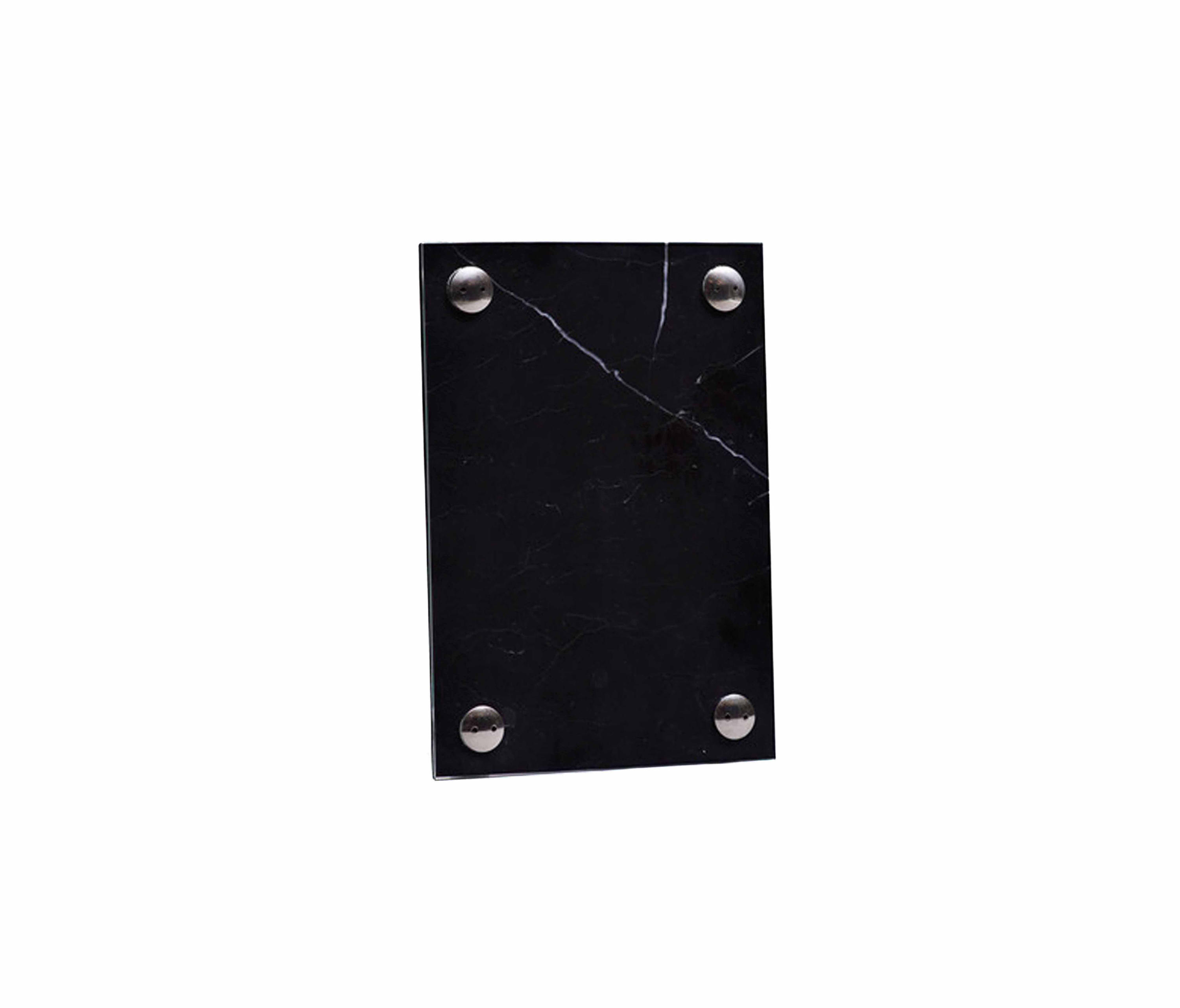 A FRAME PICTURE FRAME BLACK MARQUINA MARBLE | SMALL - Picture frames ...