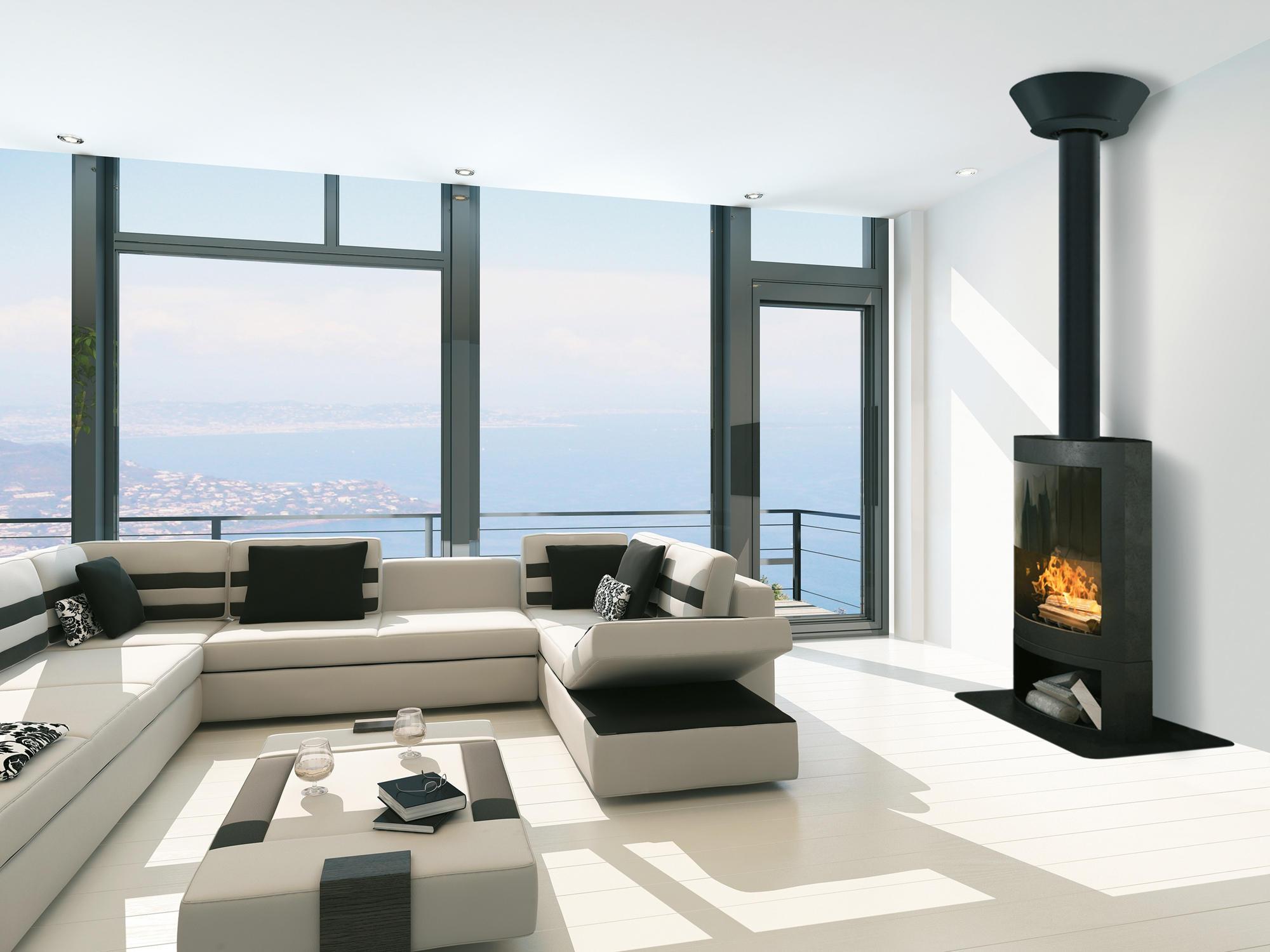 d co finition plafond conduits de fum e de poujoulat. Black Bedroom Furniture Sets. Home Design Ideas