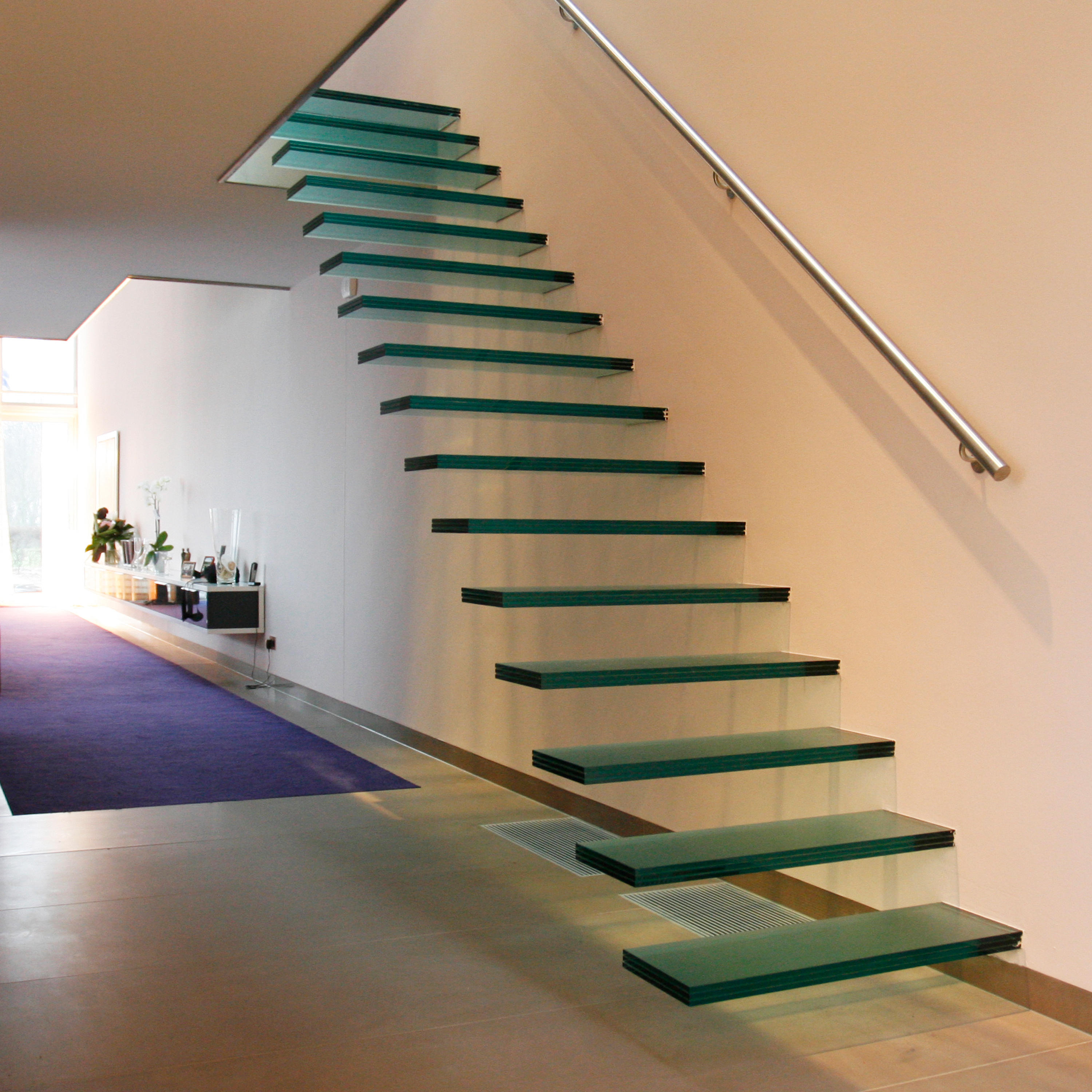 ... Floating | Straight Stairs Glass TRE 474 By EeStairs | Glass Stairs ...