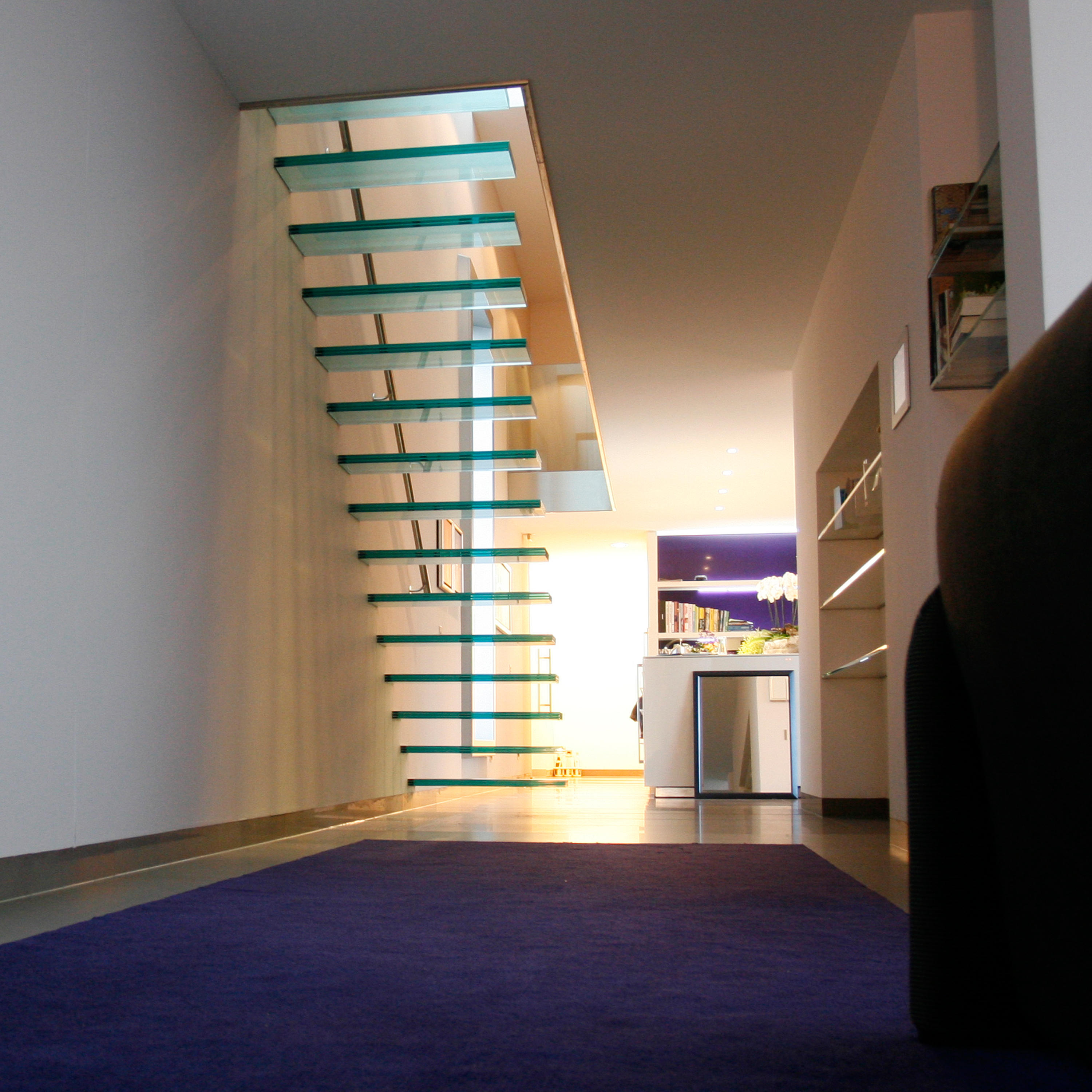 ... Floating | Straight Stairs Glass TRE 474 By EeStairs | Glass Stairs