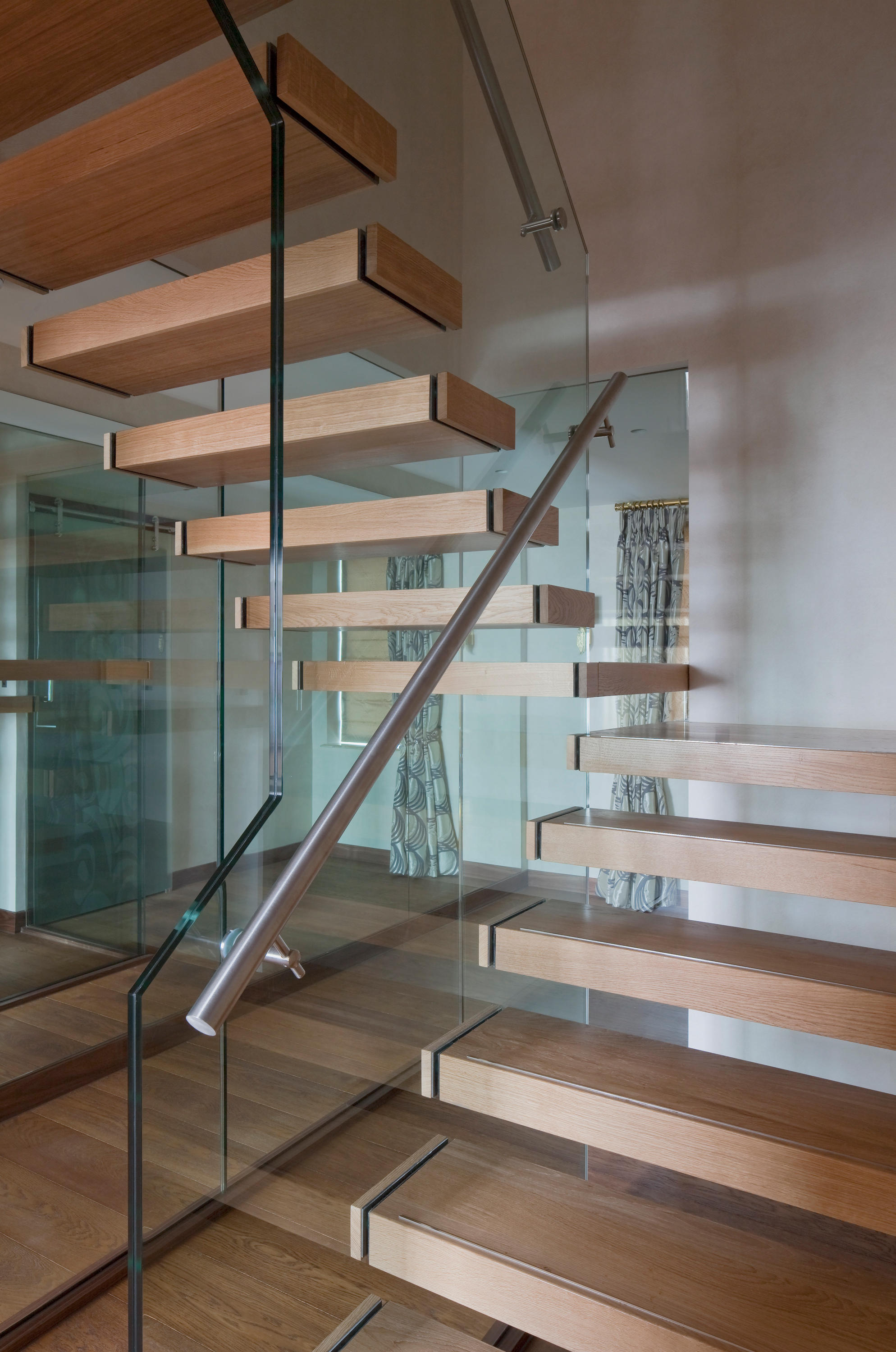 Floating Stairs Wood Twe 629 Staircase Systems From