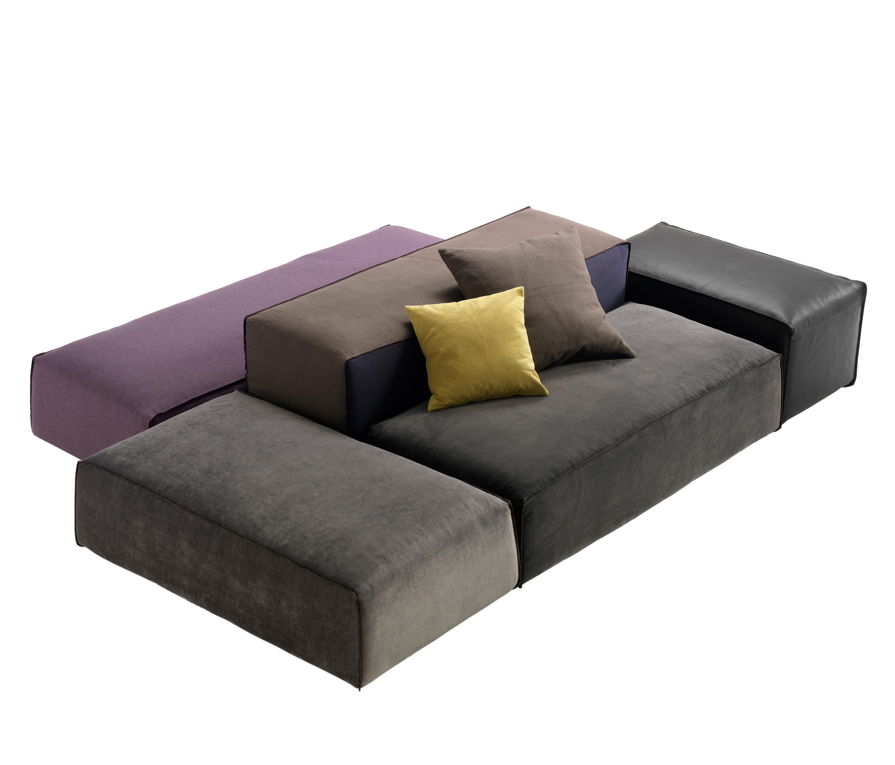 modular sofa system m a s sofa system by patricia urquiola. Black Bedroom Furniture Sets. Home Design Ideas