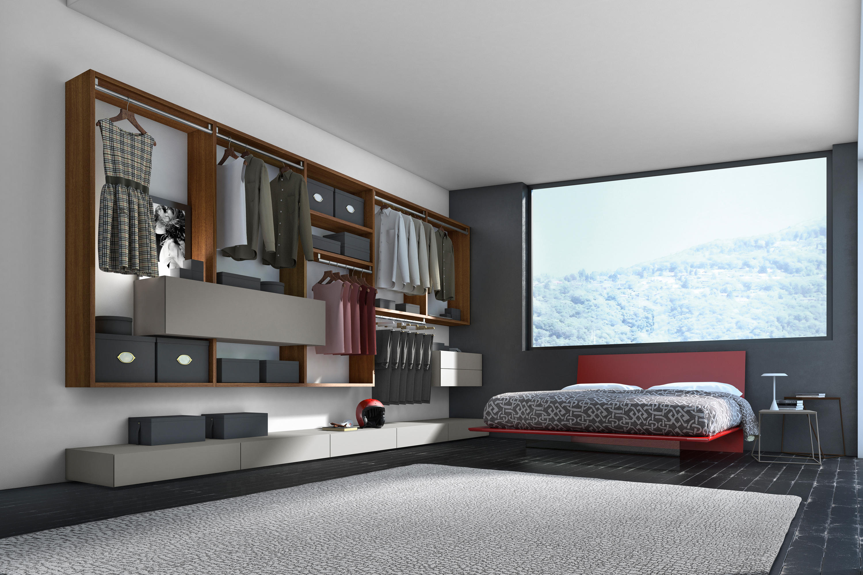 crossart zusammenstellung als begehbarer kleiderschrank. Black Bedroom Furniture Sets. Home Design Ideas