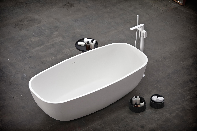 TEMPLE FREESTANDING SOLIDSURFACE® BATHTUB - Free-standing baths ...