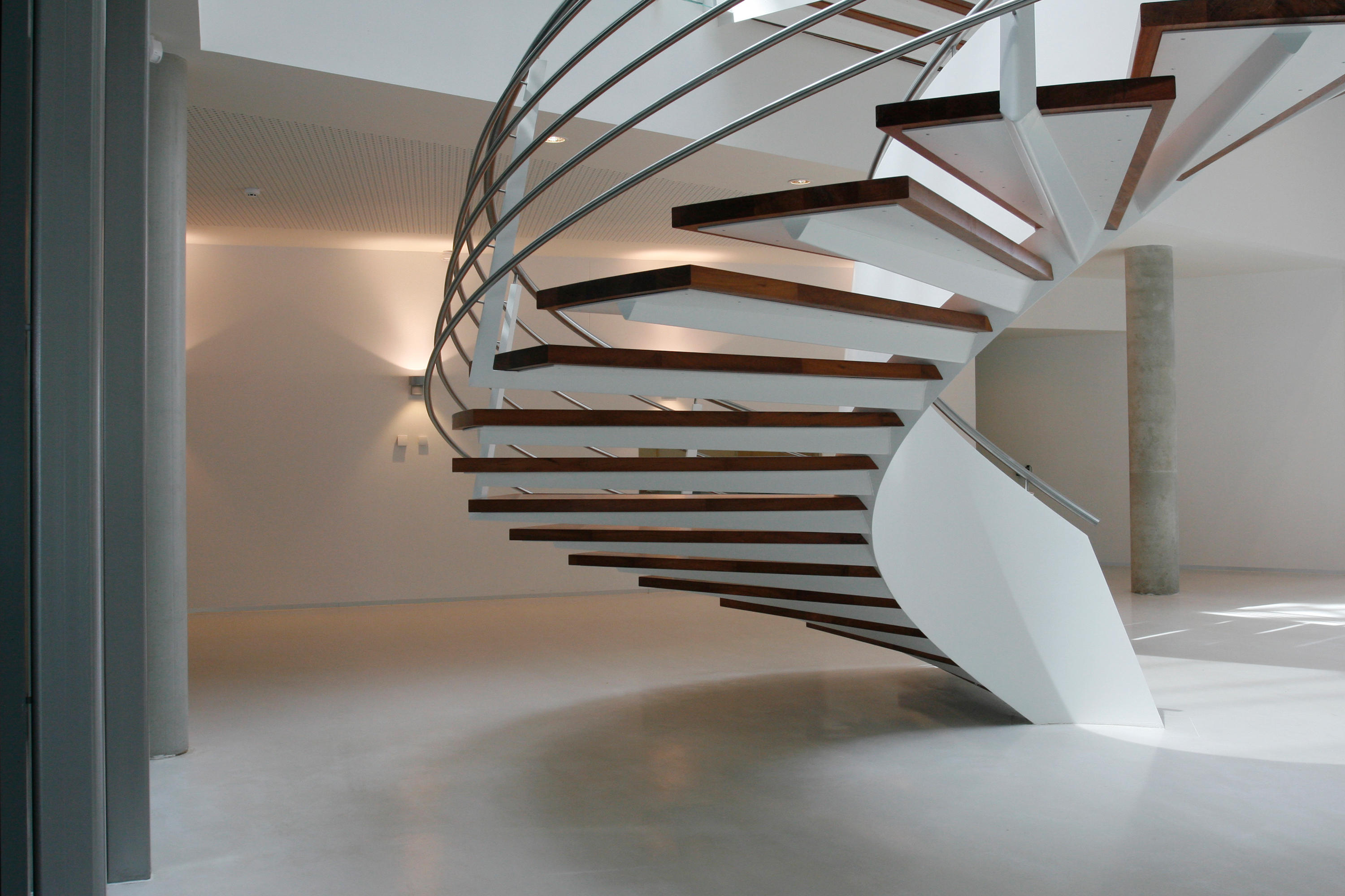 Helical Stairs Wood Twe 377 Staircase Systems From