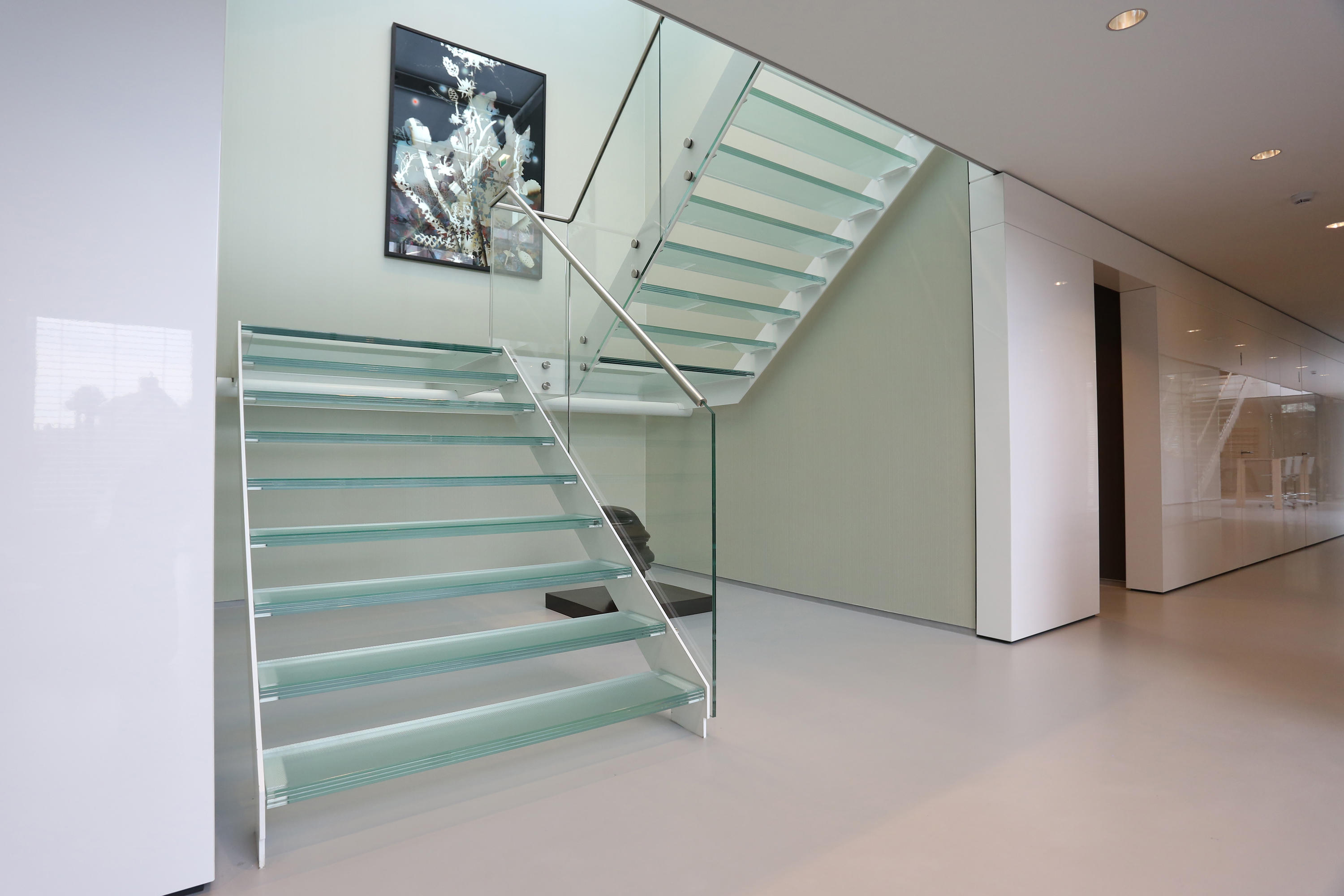 Straight Stairs Glass TRE 609 By EeStairs | Glass Stairs ...