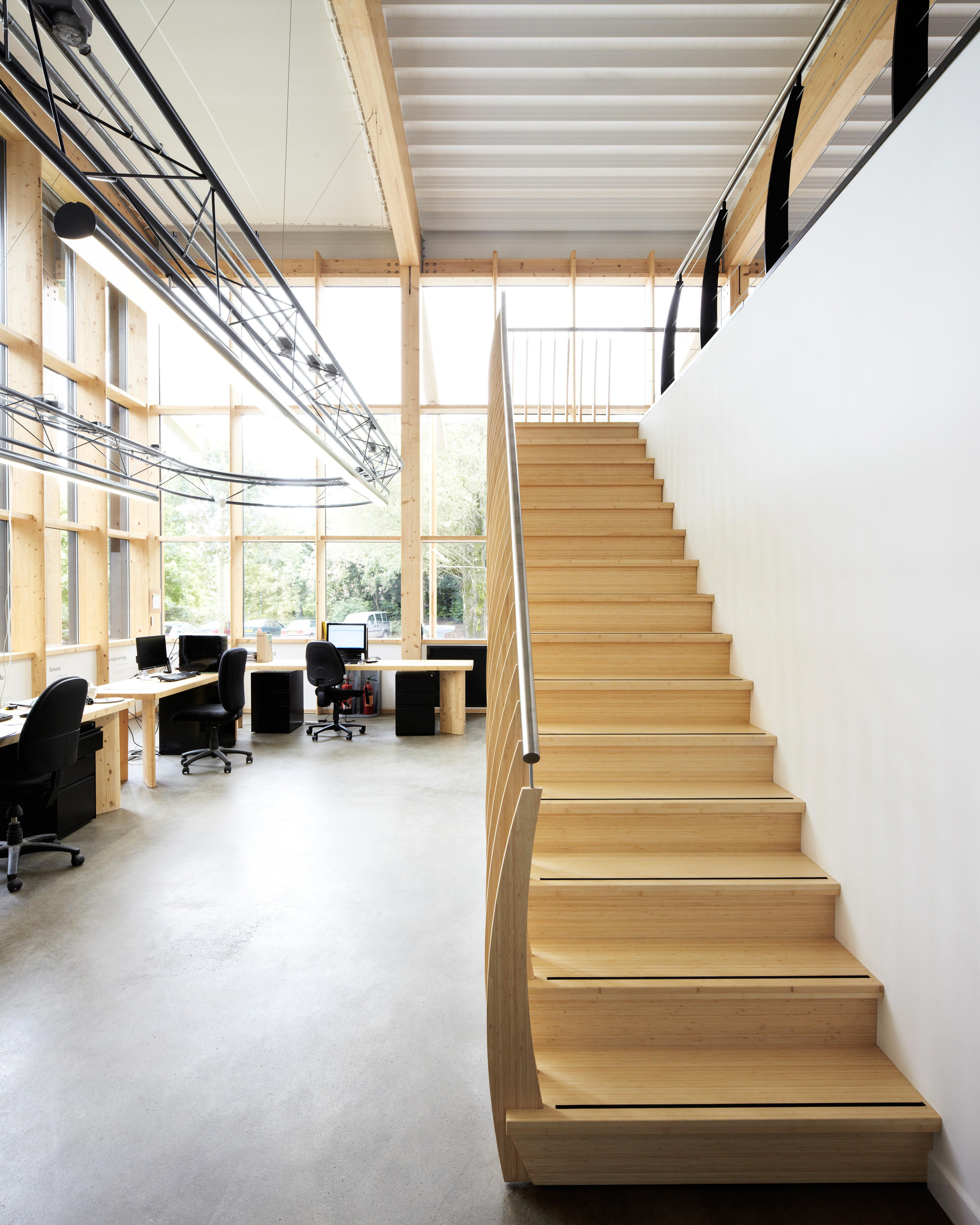 Mindstep straight stairs wood trh 517 wood stairs from - Escaleras modernas interiores ...