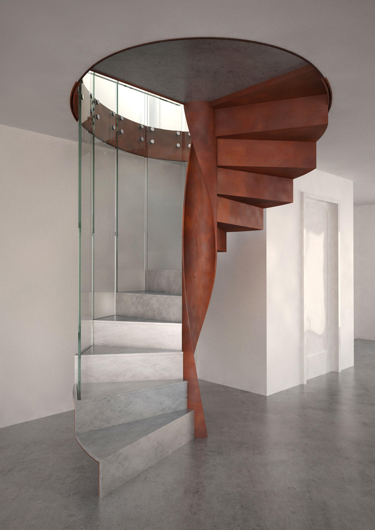 Metal Finishes Spiral | Staircase Systems | EeStairs