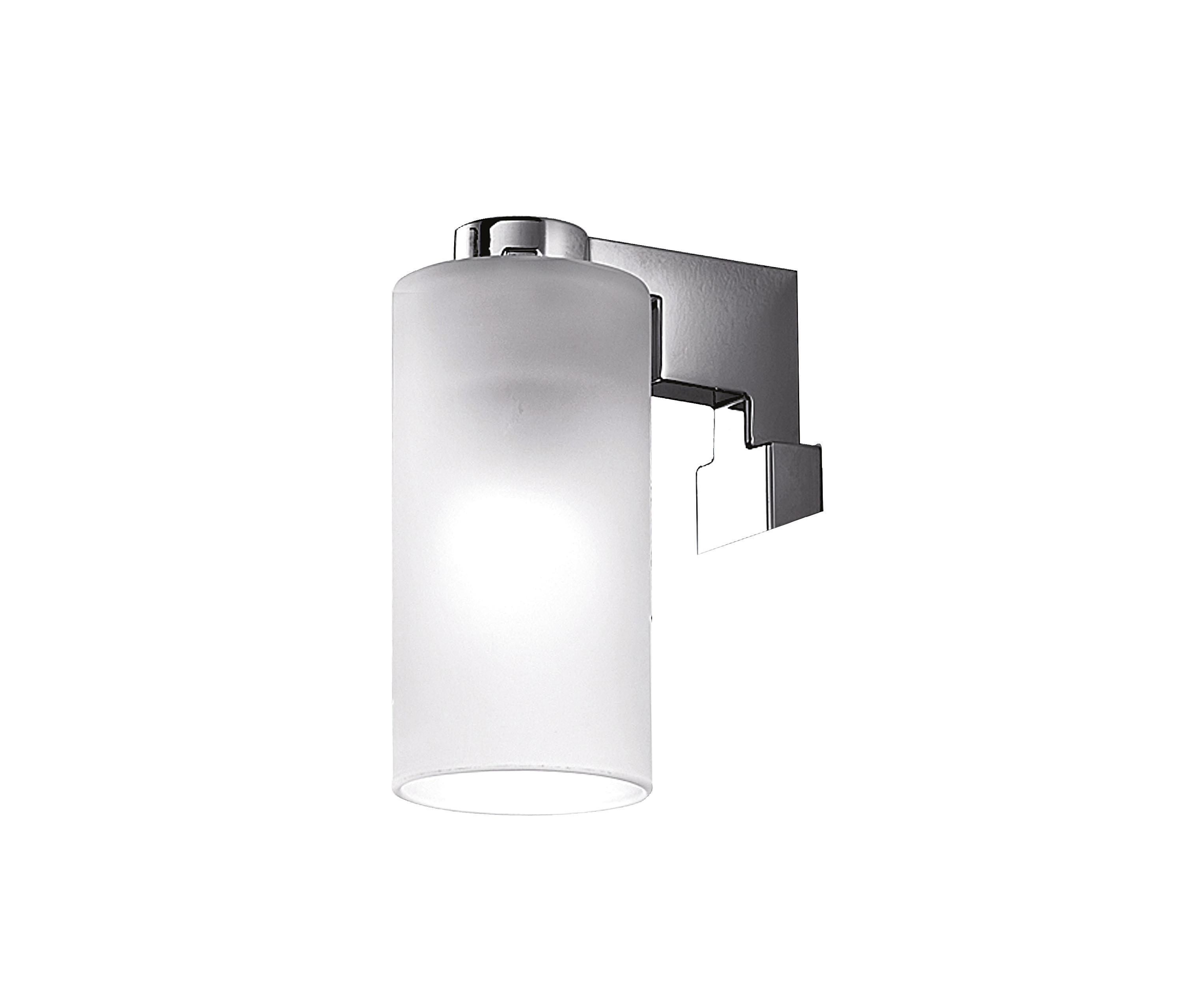 DIVO WALL-MOUNTED LAMP, BEHIND MIRROR INCANDESCENT LAMP INCLUDED, DIFFUSER IN SATINED GLASS - Wall..