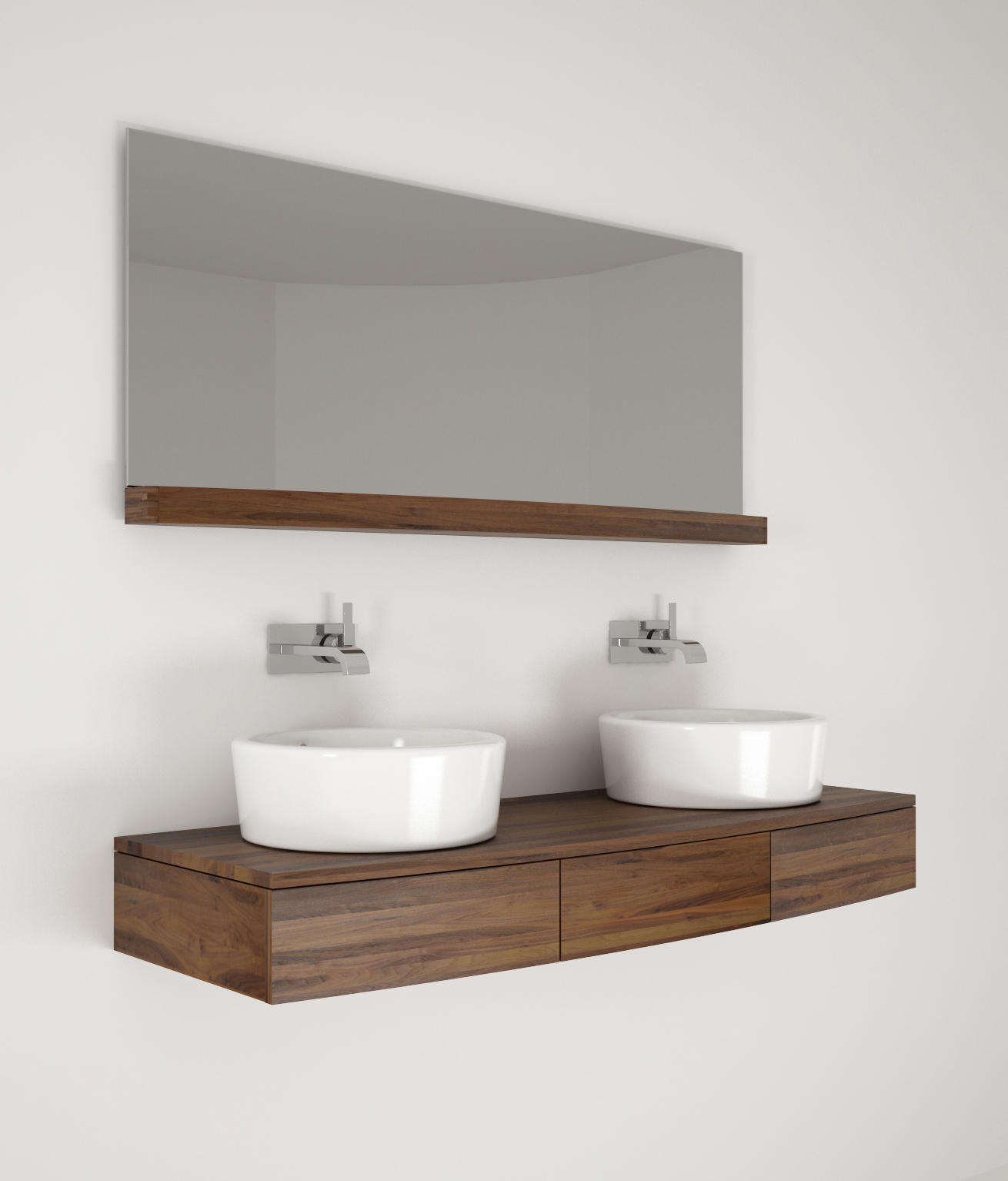 Miles hanging basin 3 drawers vanity units from for Waschtischunterschranke hangend