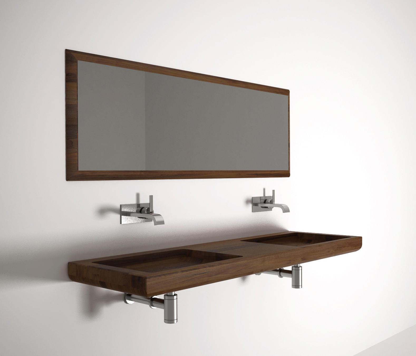 ... Nina WASH BASIN DOUBLE By Karpenter | Wash Basins
