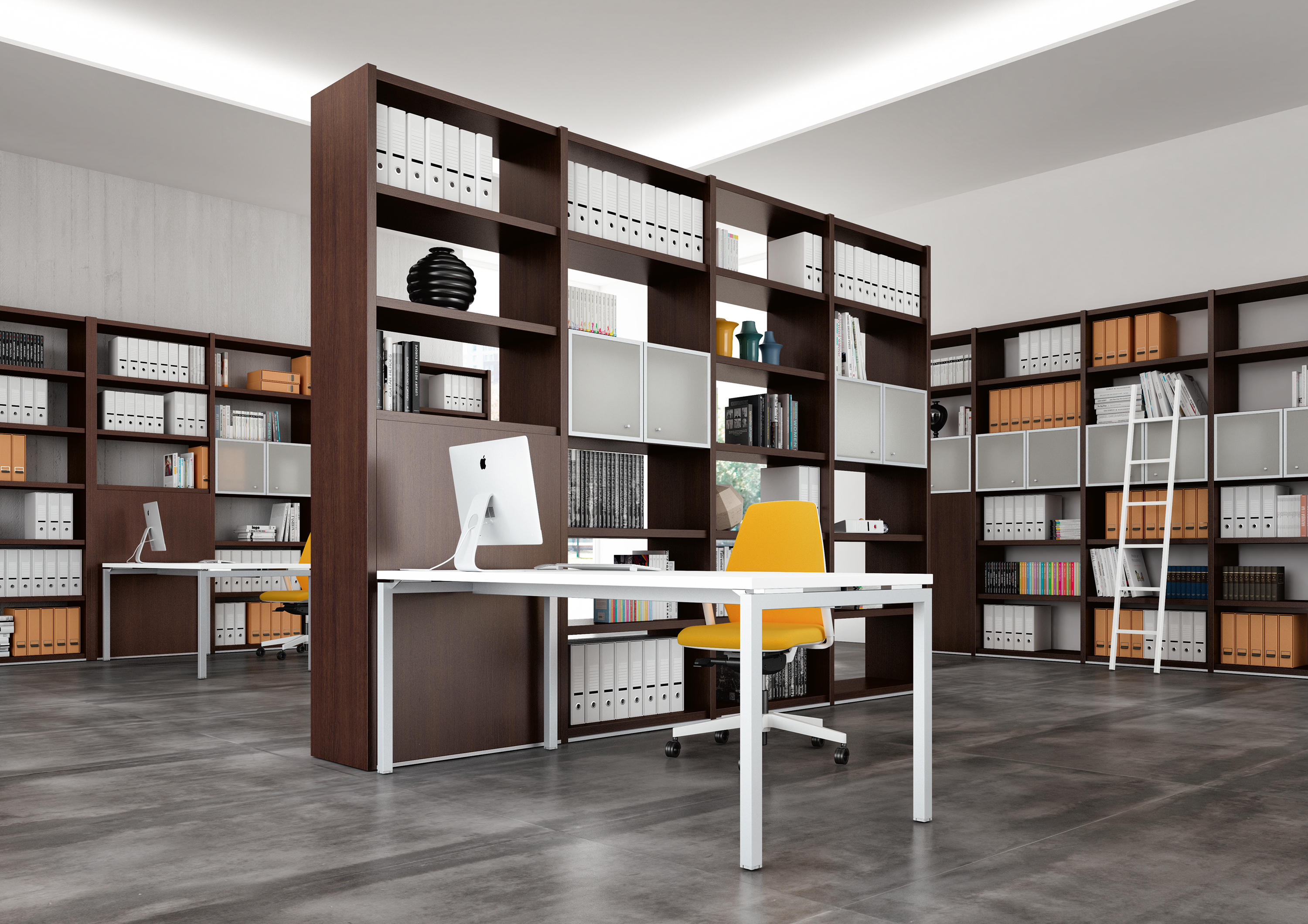 libreria structure en sided double and with glass arredaclick bookcase lacquered extra naviglio clear tnc white metal
