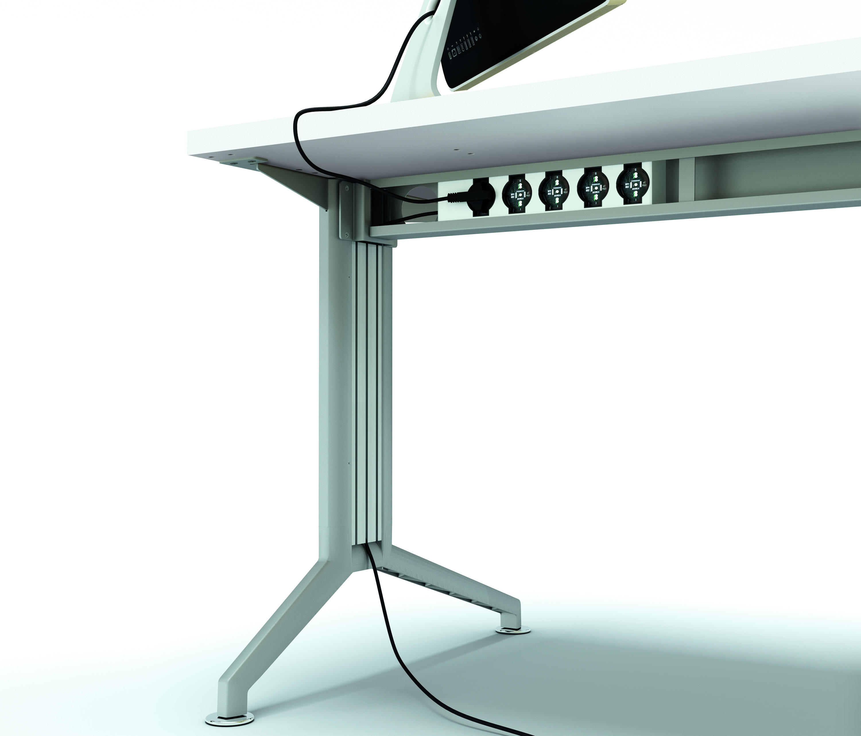 Cable Management Desk Tray Vivo Electric Stand Up Desk