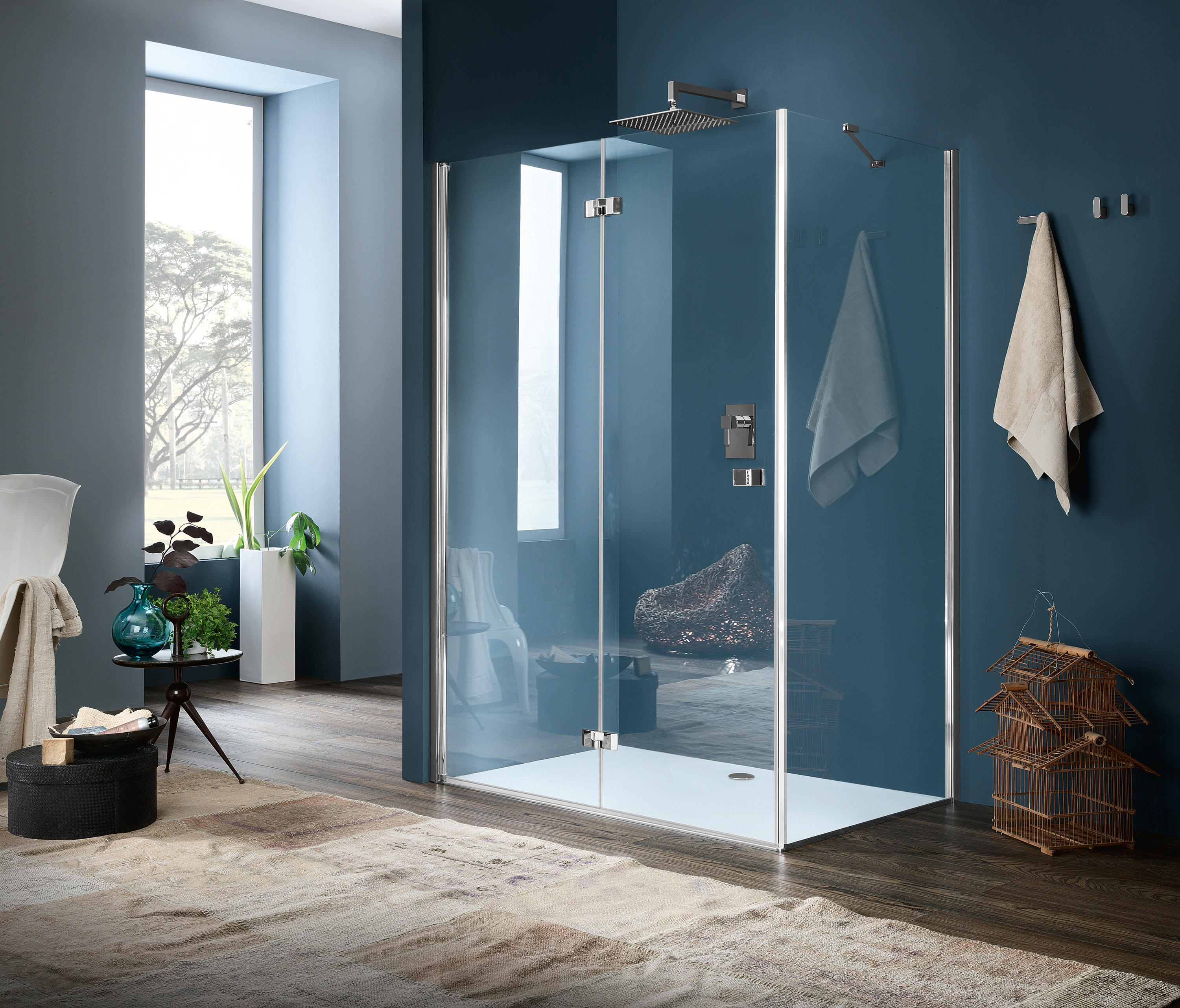 Sim Panel With Folding Door By Inda | Shower Screens