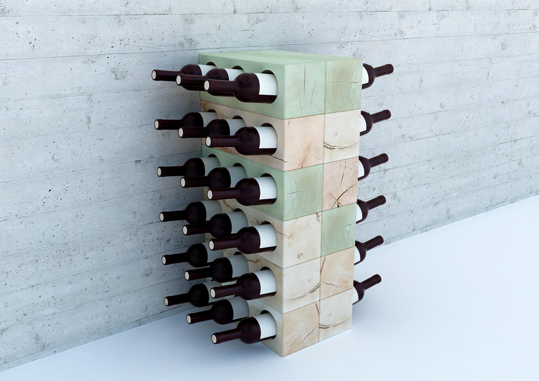 Estanterias De Vino. Cool Botella De Vino Metal Estante Estantes De ...