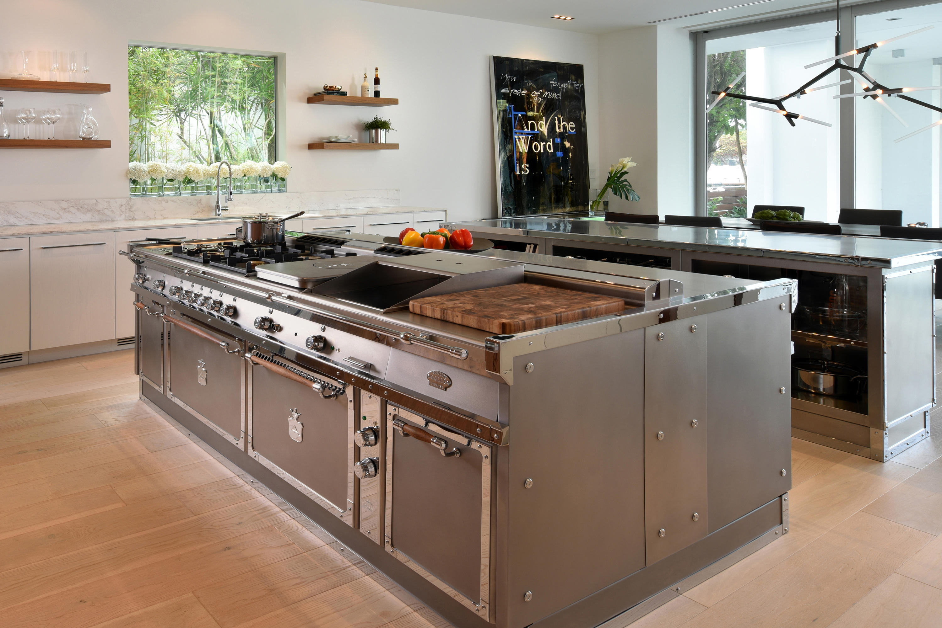 STAINLESS STEEL & POLISHED CHROME KITCHEN - Island kitchens ...