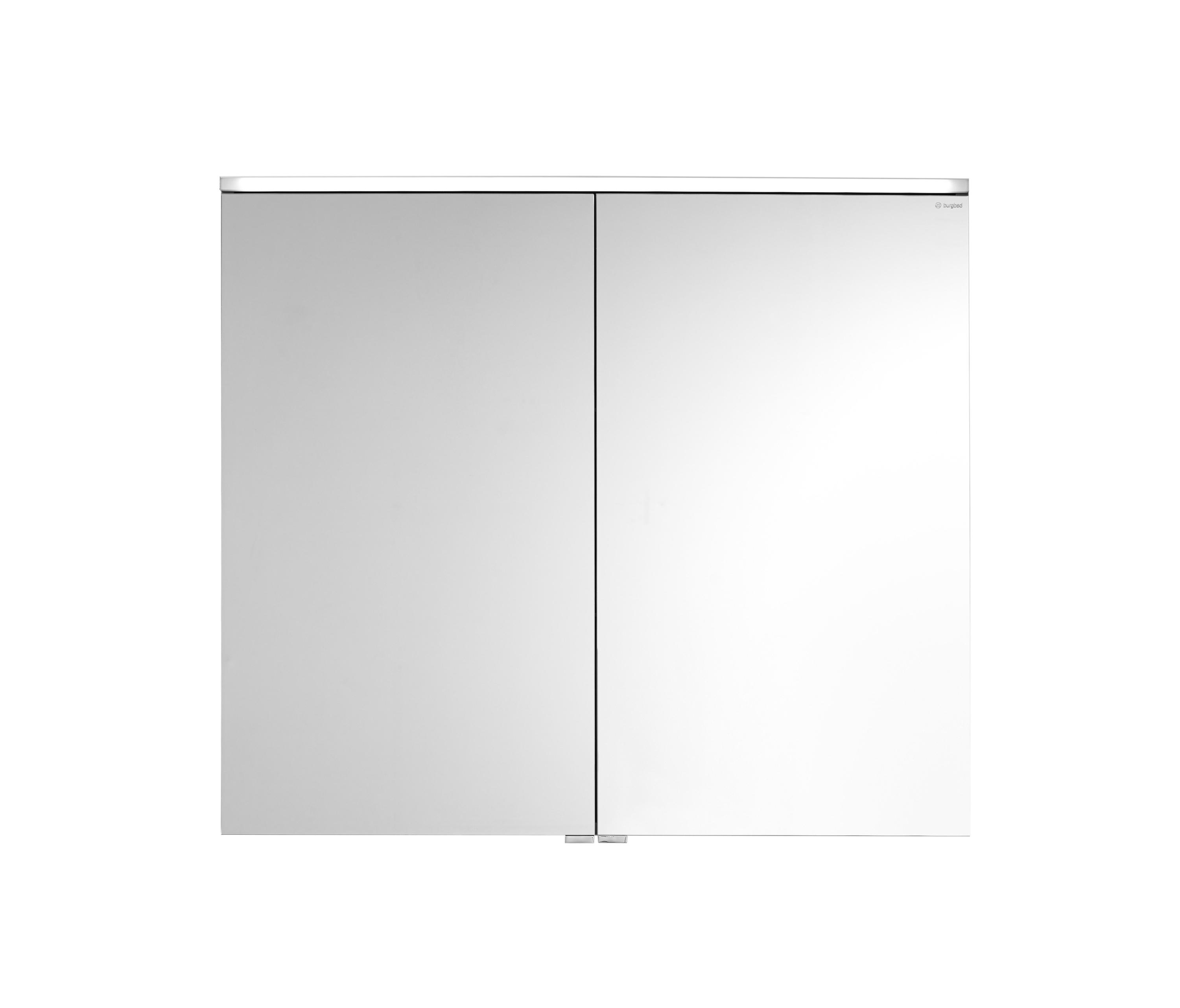Eqio mirror cabinet with horizontal led lighting armarios espejo de burgbad architonic for Espejo horizontal