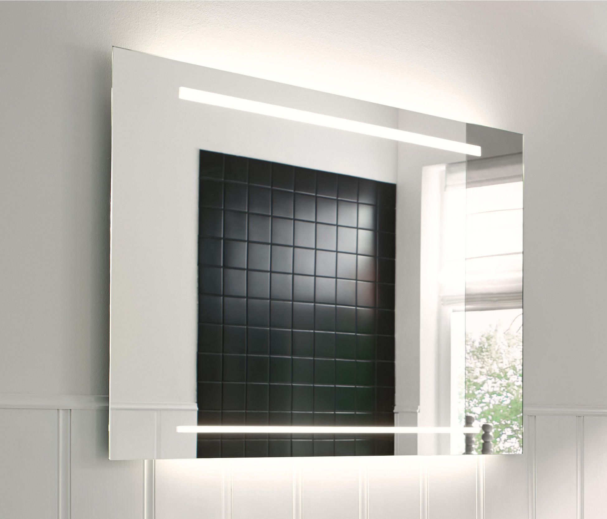 Essento miroir avec clairage led horizontal miroirs for Miroir horizontal