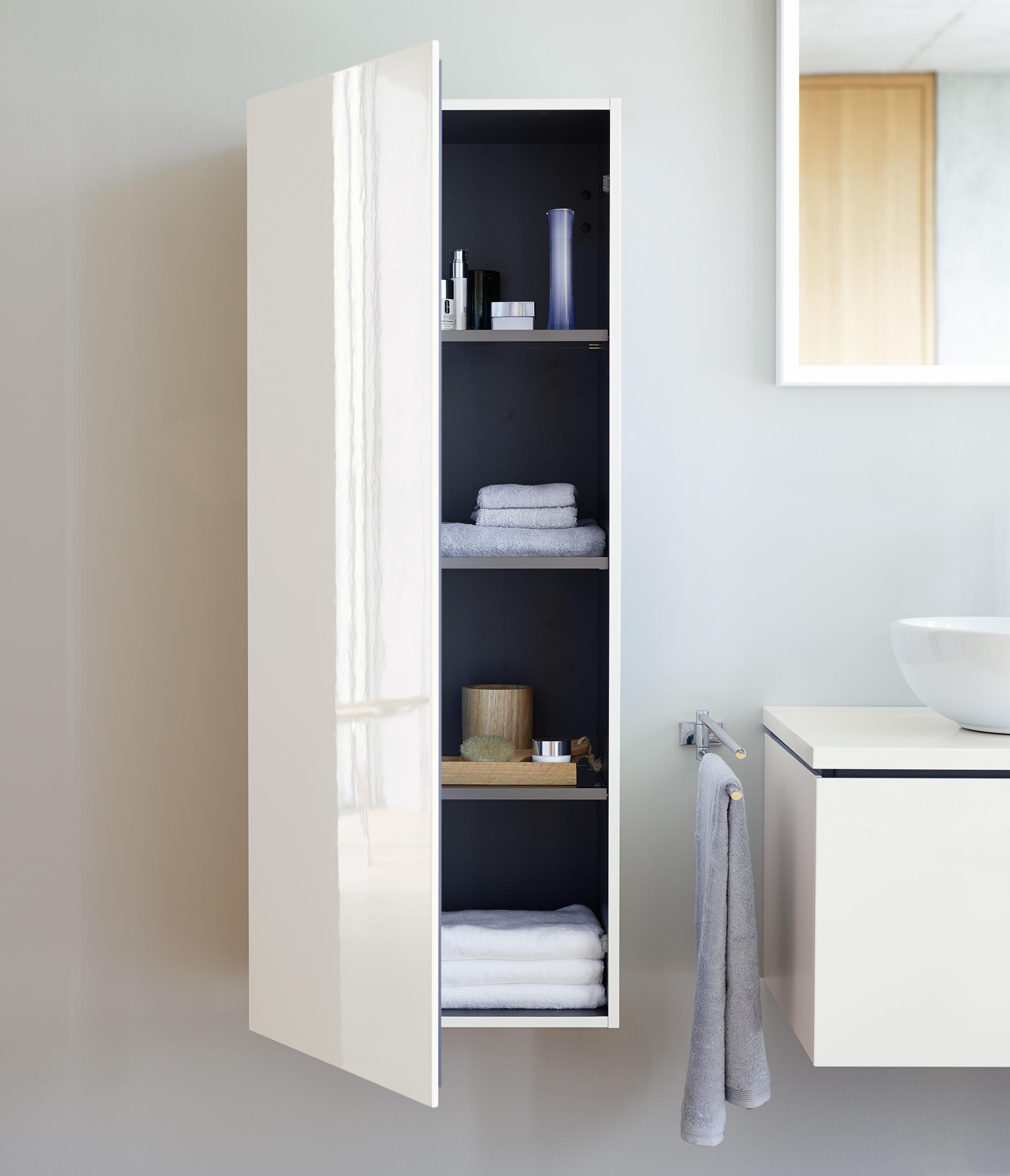 l cube badschrank wandschr nke von duravit architonic. Black Bedroom Furniture Sets. Home Design Ideas