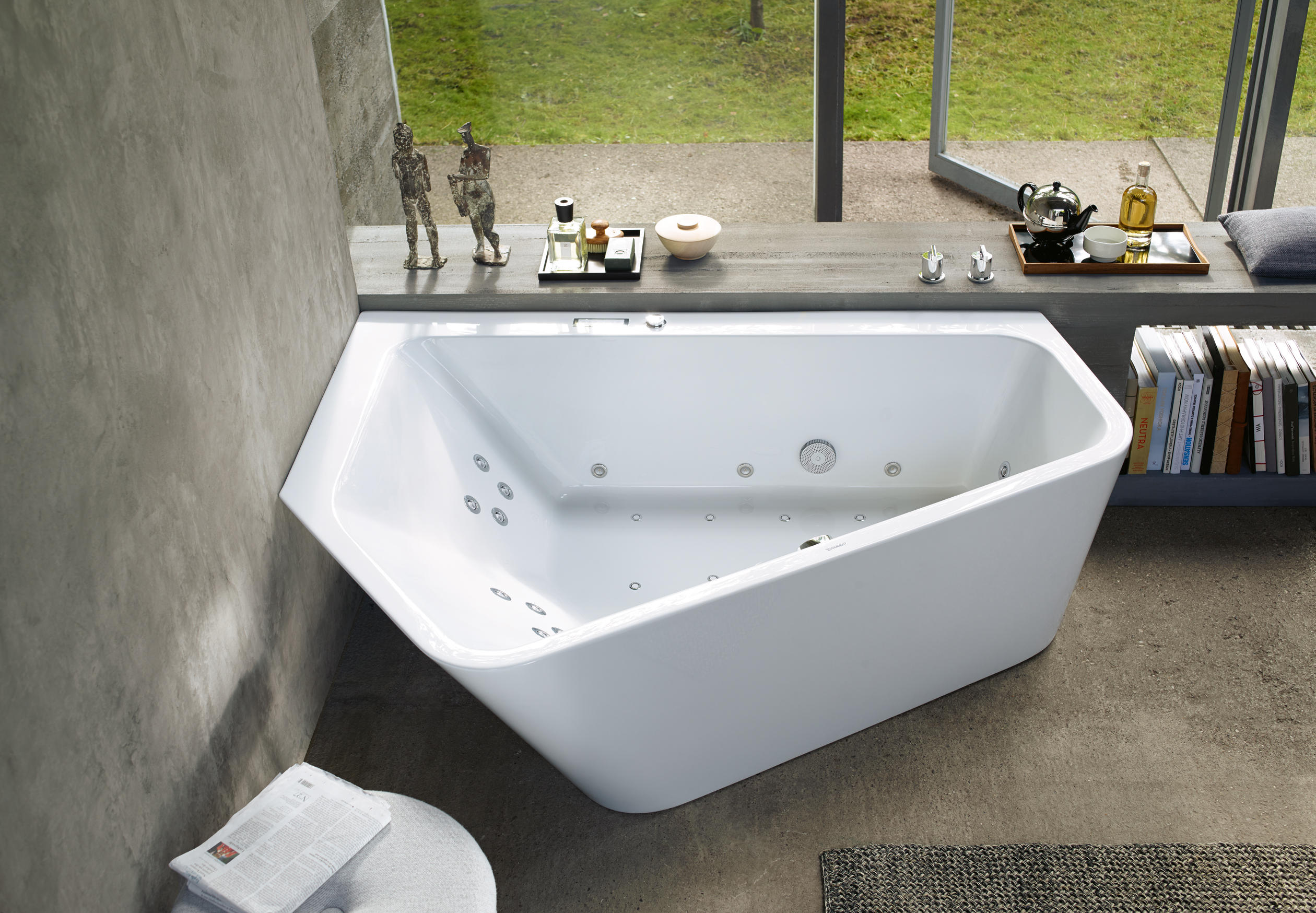 taps frame l duravit image support bath additional with furniture htm of tub ended vero x bathroom double shower