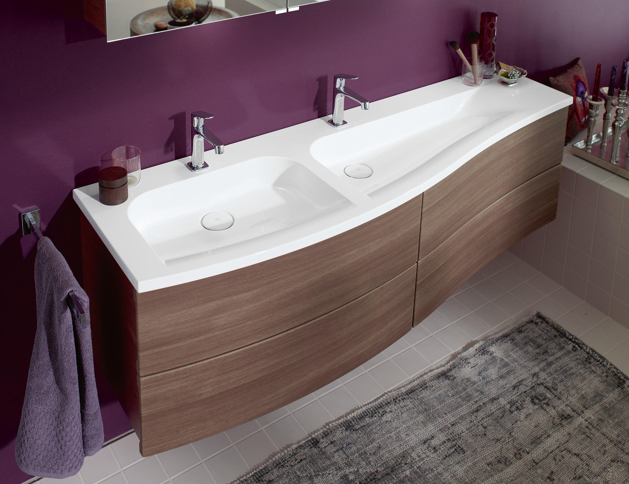 sinea mineralguss waschtisch inkl. Black Bedroom Furniture Sets. Home Design Ideas